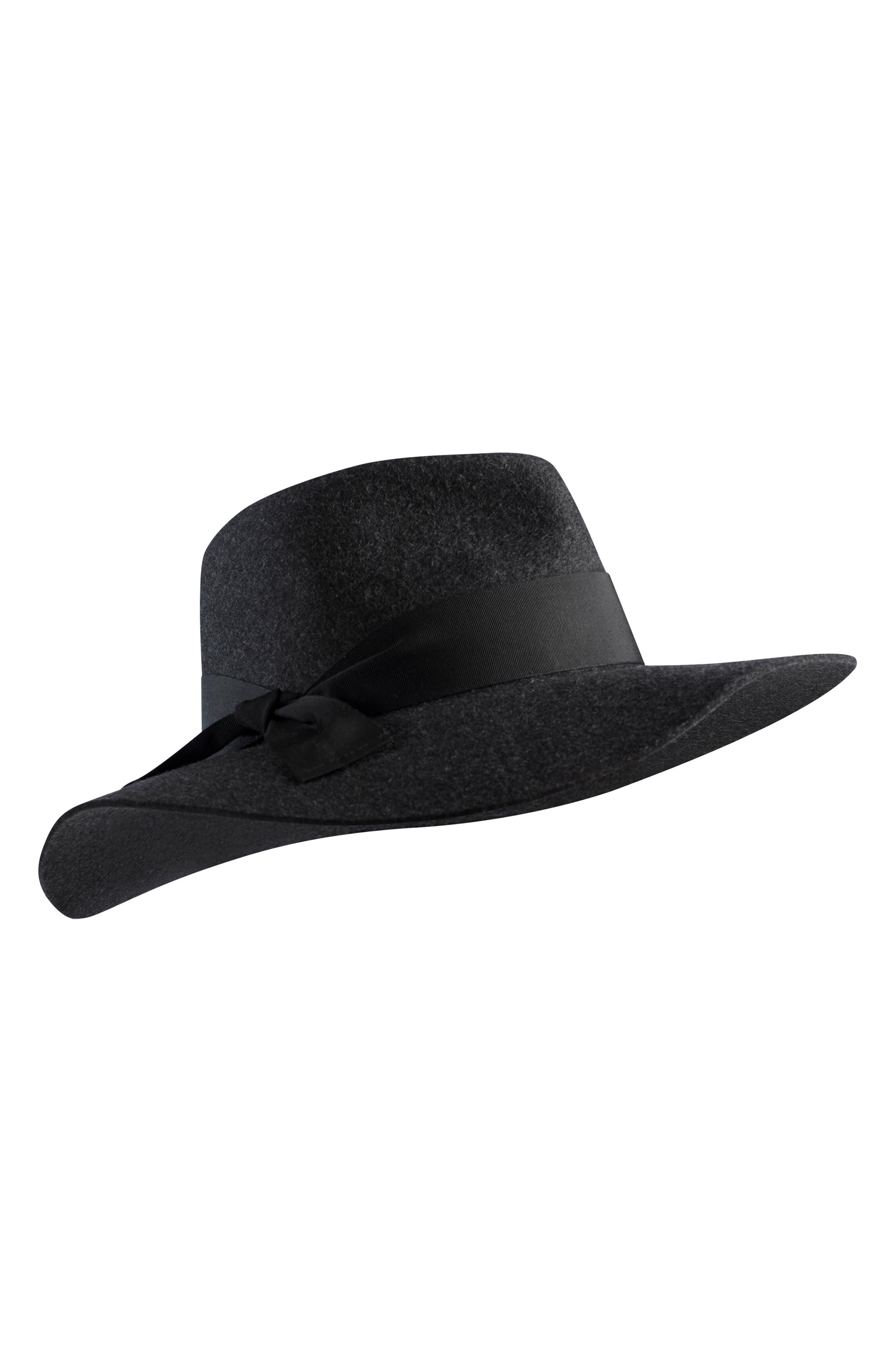 Western Wool Fedora,                         Main,                         color, KNIGHT MELANGE/ BLACK