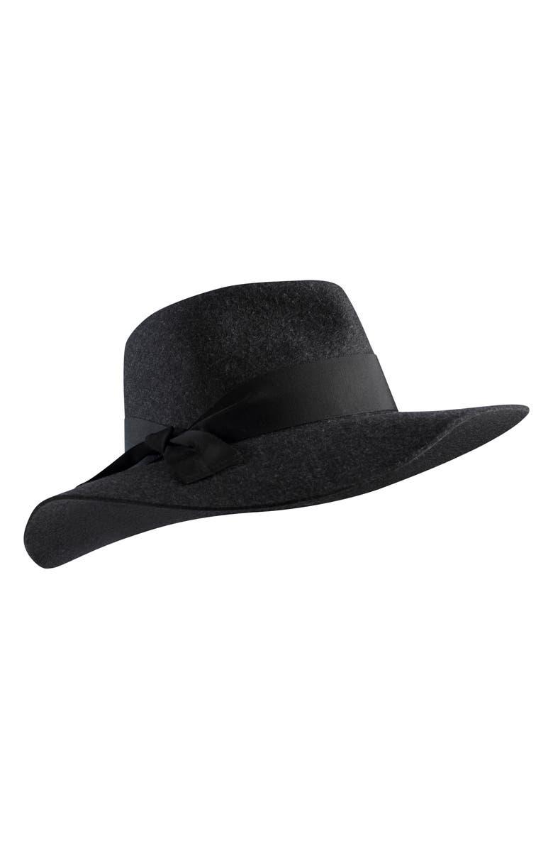 Helen Kaminski Western Wool Fedora - Black In Knight Melange  Black 0265d5b7f06