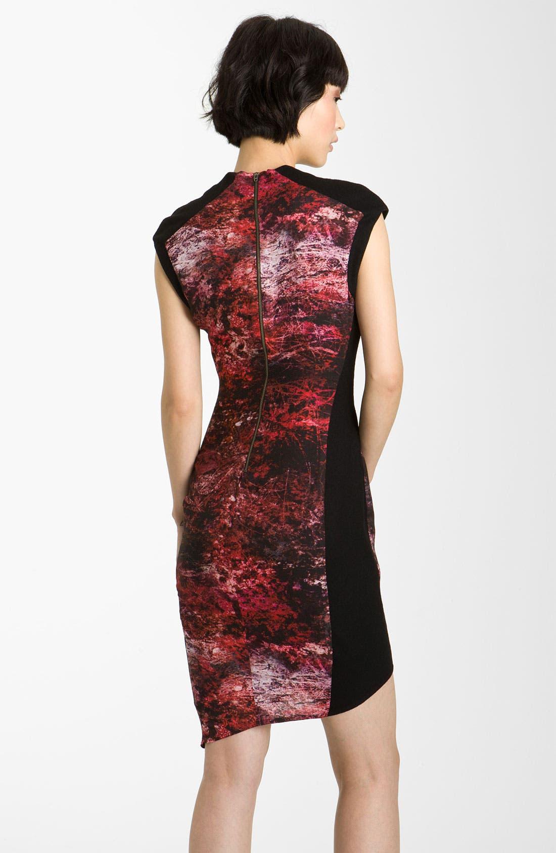 HELMUT LANG,                             'Midnight Floral' Print Twill Dress,                             Alternate thumbnail 2, color,                             640