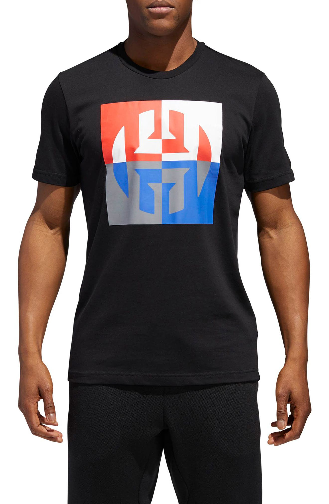 Harden Logo T-Shirt,                             Main thumbnail 1, color,                             BLACK
