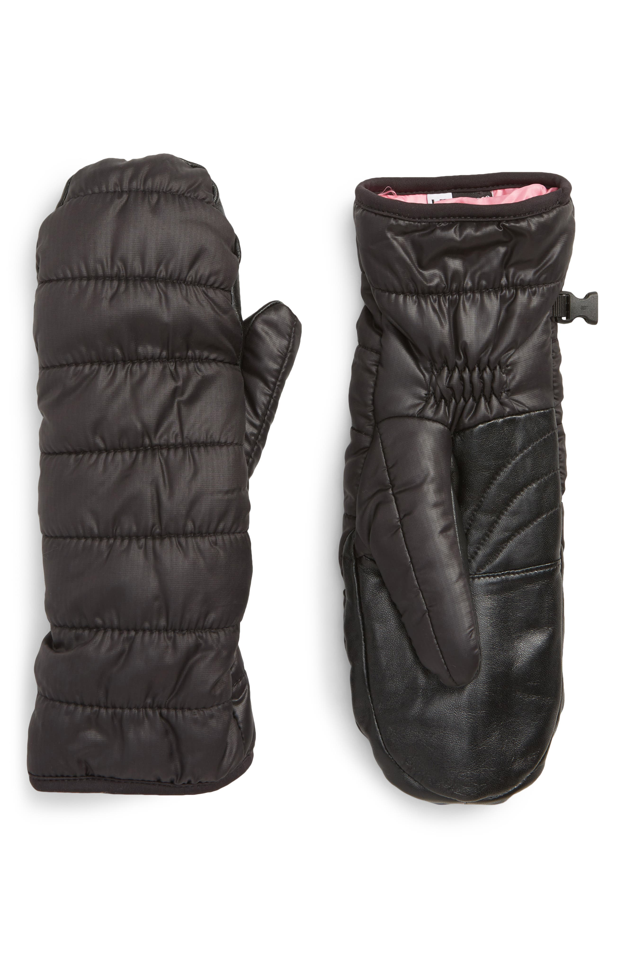 Extreme Cold Weather Touchscreen-Compatible Mittens,                             Main thumbnail 1, color,                             BLACK