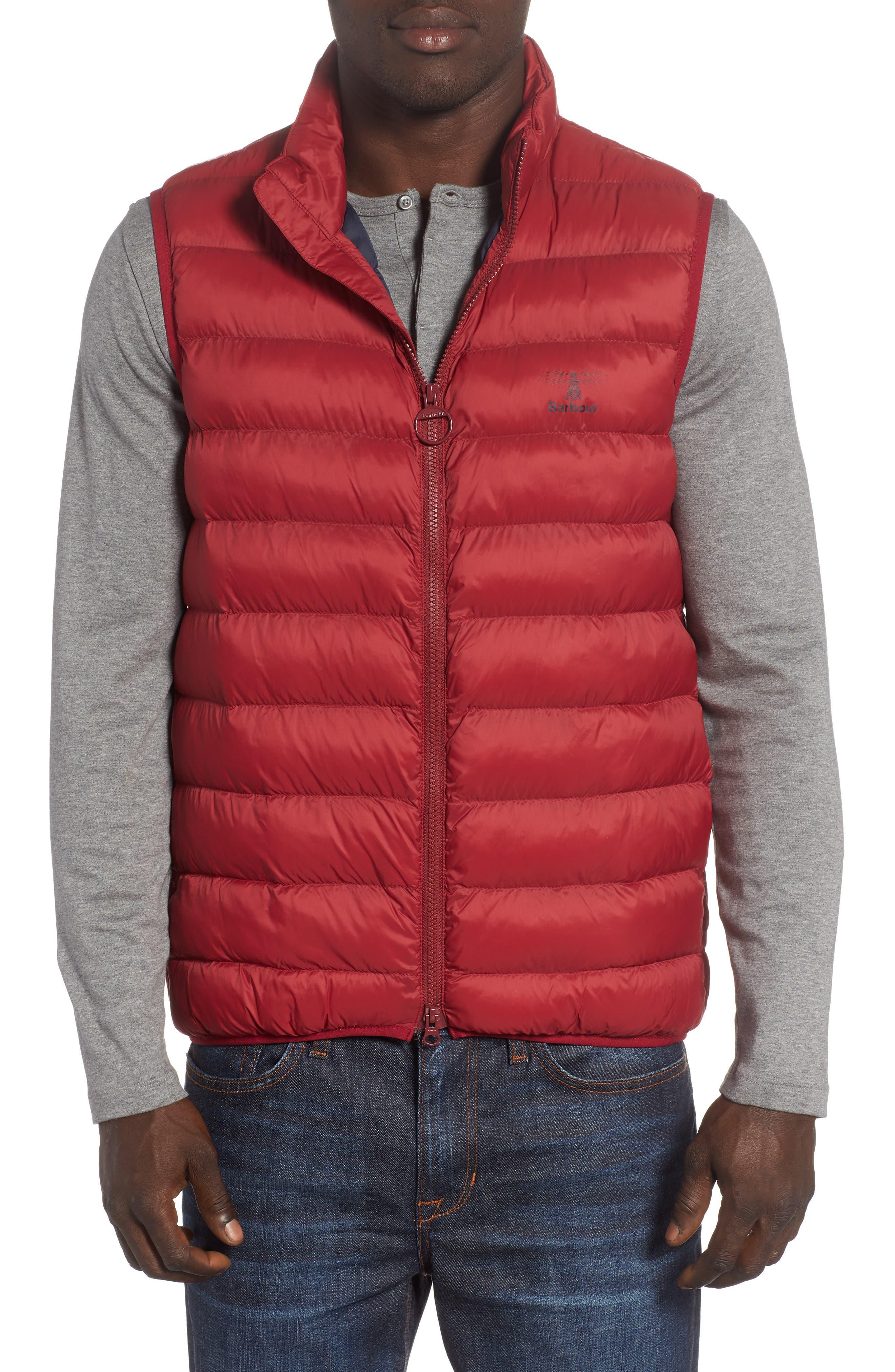 Askham Quilted Vest,                         Main,                         color, BIKING RED