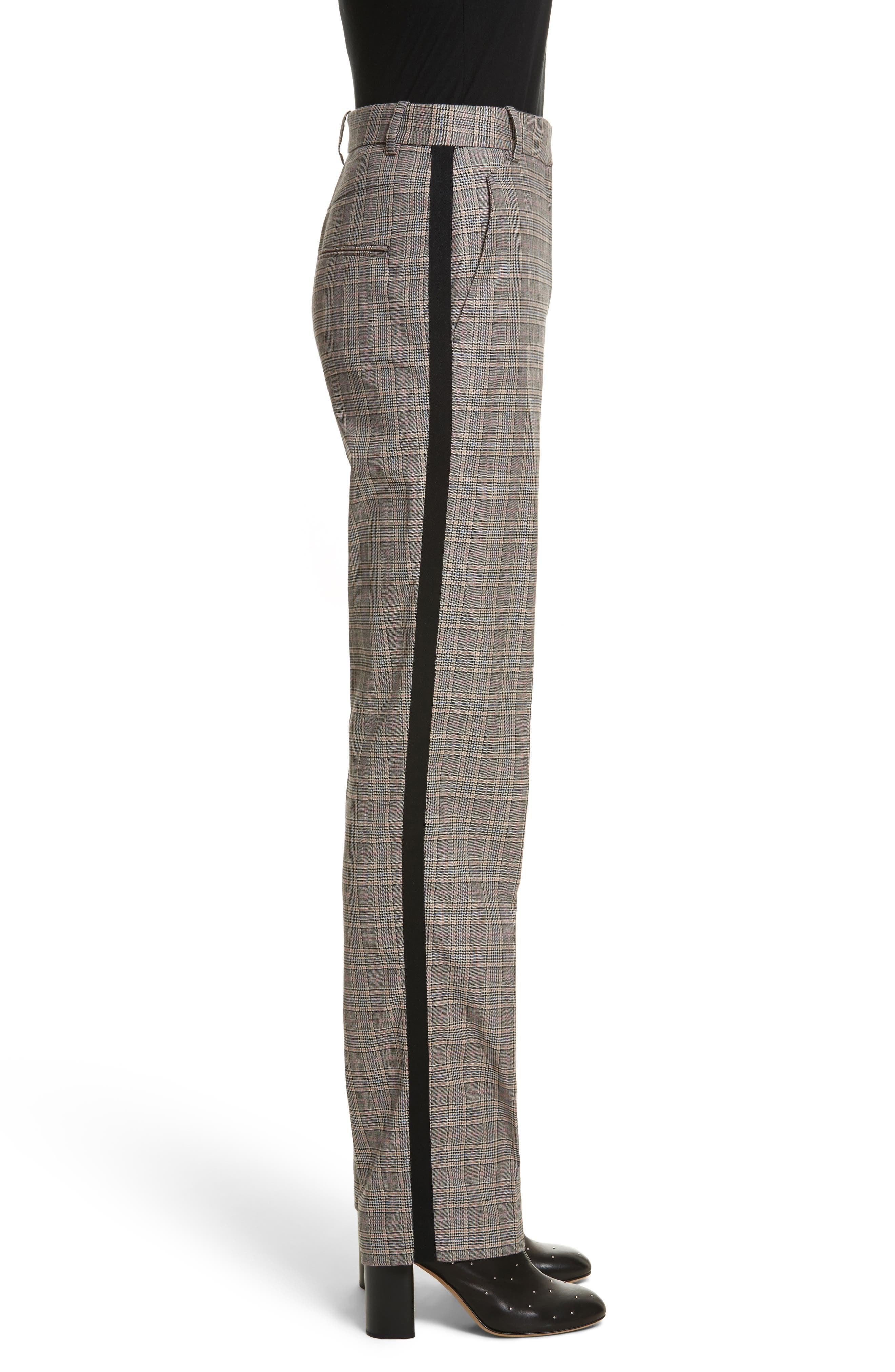 Oman Side Stripe Wool Blend Pants,                             Alternate thumbnail 3, color,                             017