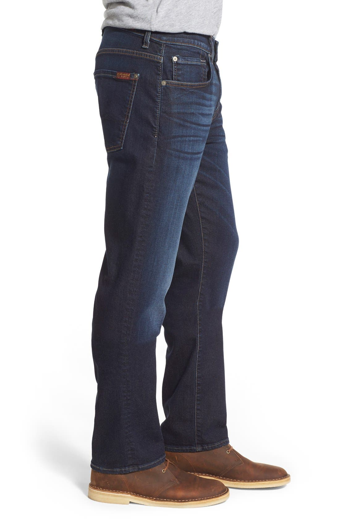 7 FOR ALL MANKIND<SUP>®</SUP>,                             'Straight' Slim Straight Leg Jeans,                             Alternate thumbnail 2, color,                             400