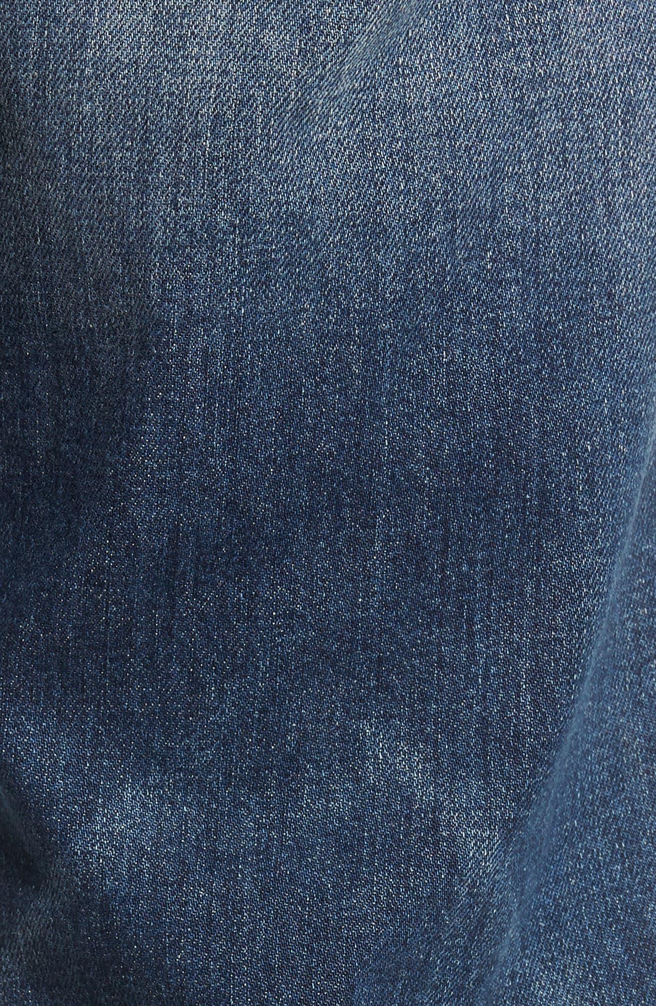 Geno Slim Straight Leg Jeans,                             Alternate thumbnail 5, color,                             JETSET BLUE