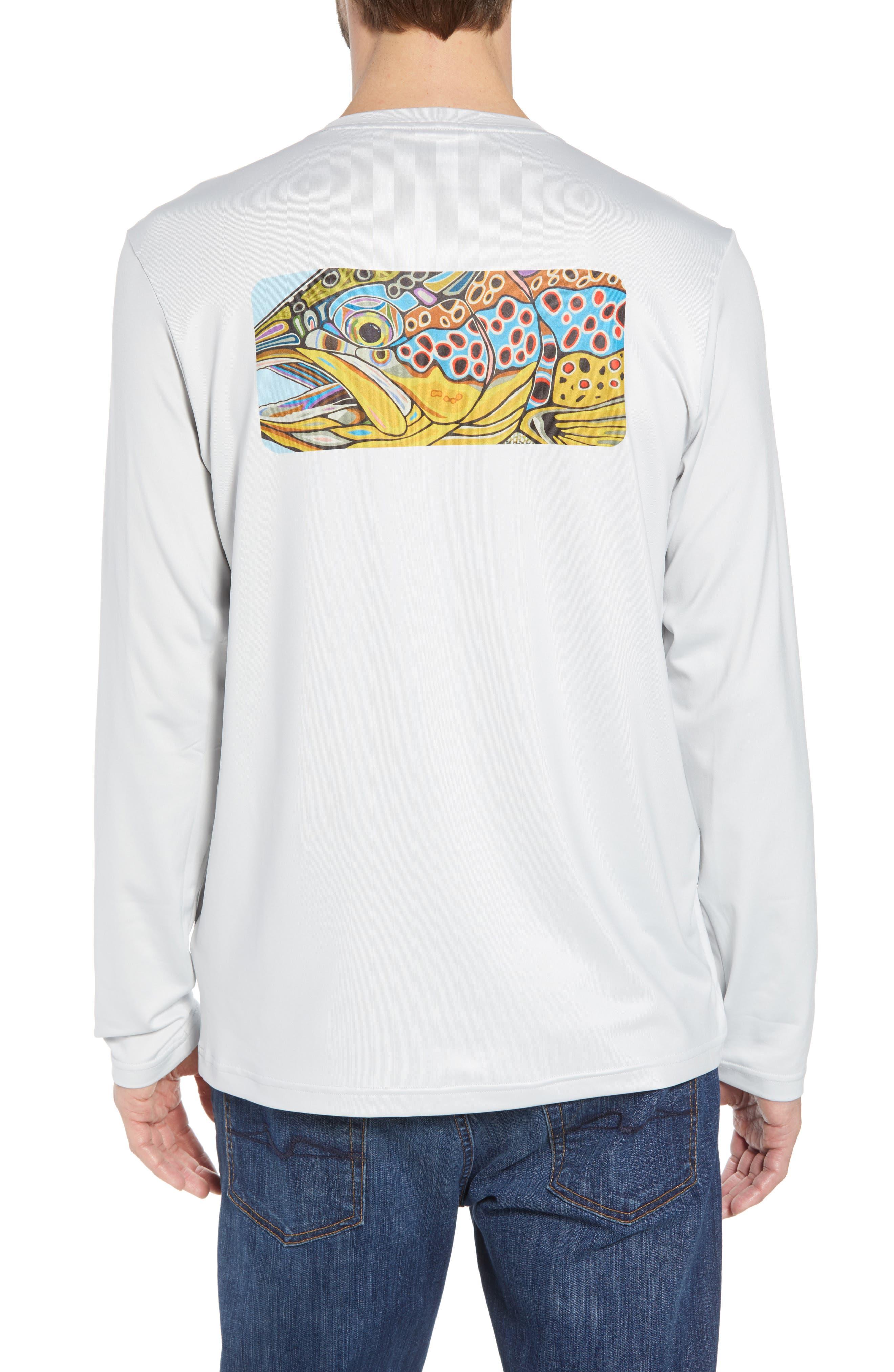 Tech Fish Graphic Long Sleeve T-Shirt,                             Alternate thumbnail 5, color,