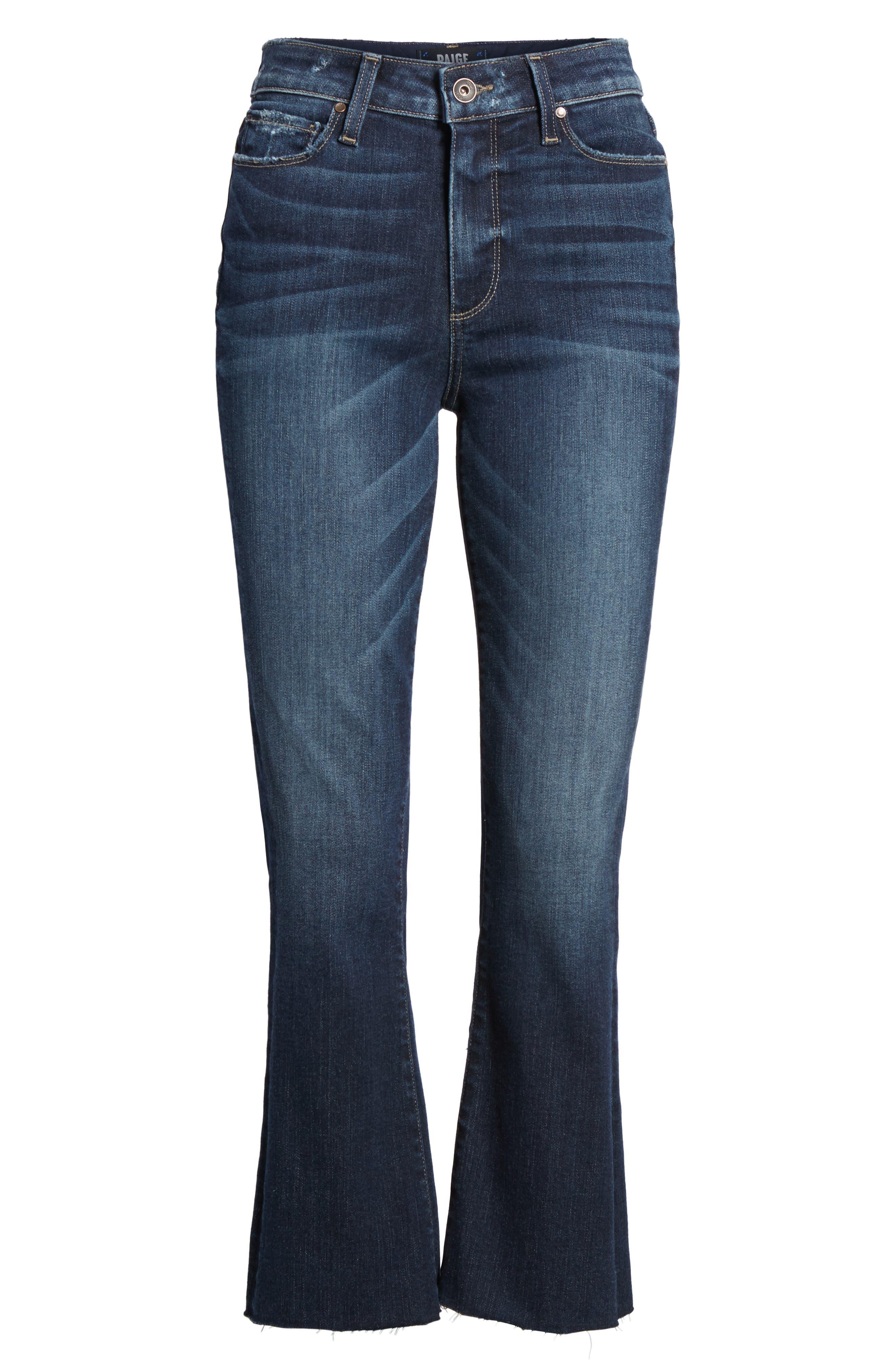Transcend Vintage - Colette Crop Flare Jeans,                             Alternate thumbnail 7, color,                             ANZA