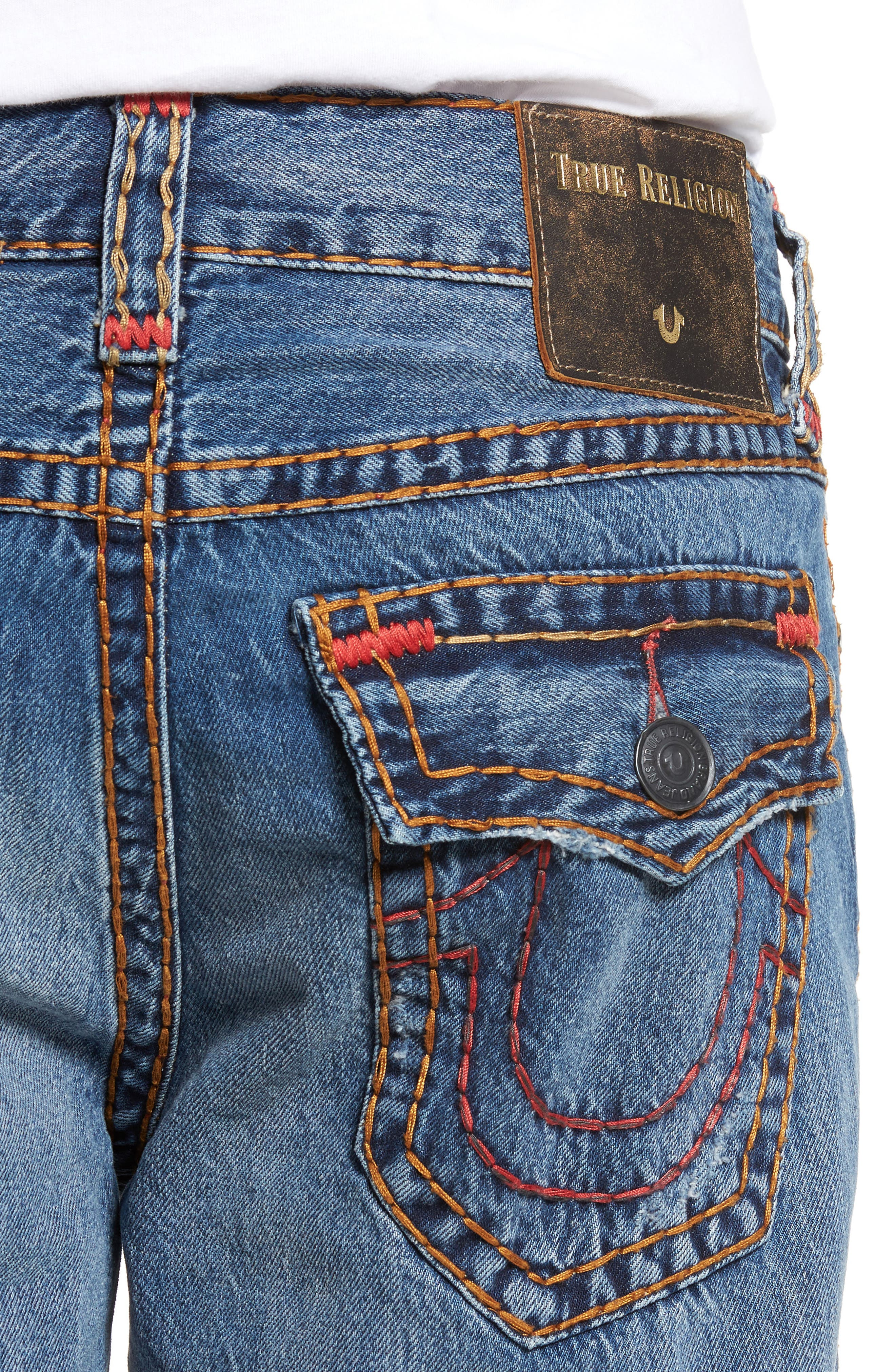 Ricky Relaxed Fit Jeans,                             Alternate thumbnail 4, color,                             WORN EVER FADE
