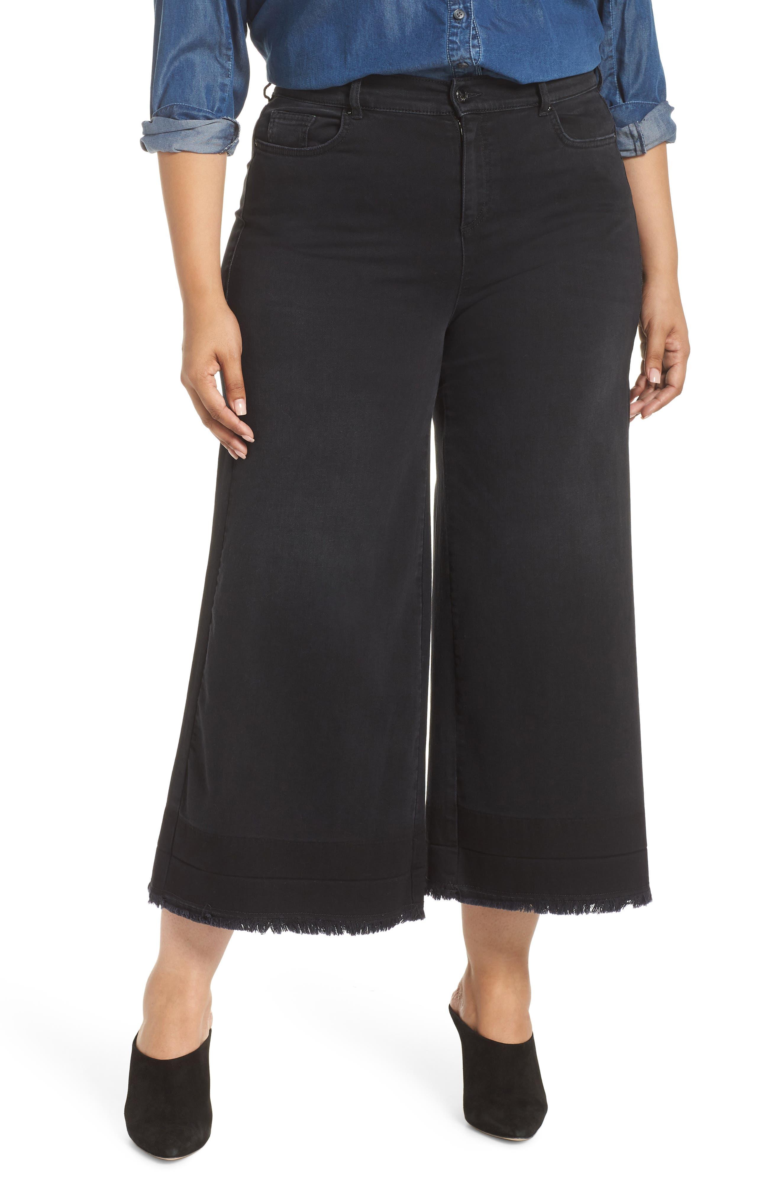 ASHLEY GRAHAM X MARINA RINALDI Igloo High Rise Crop Flare Jeans in Black 2