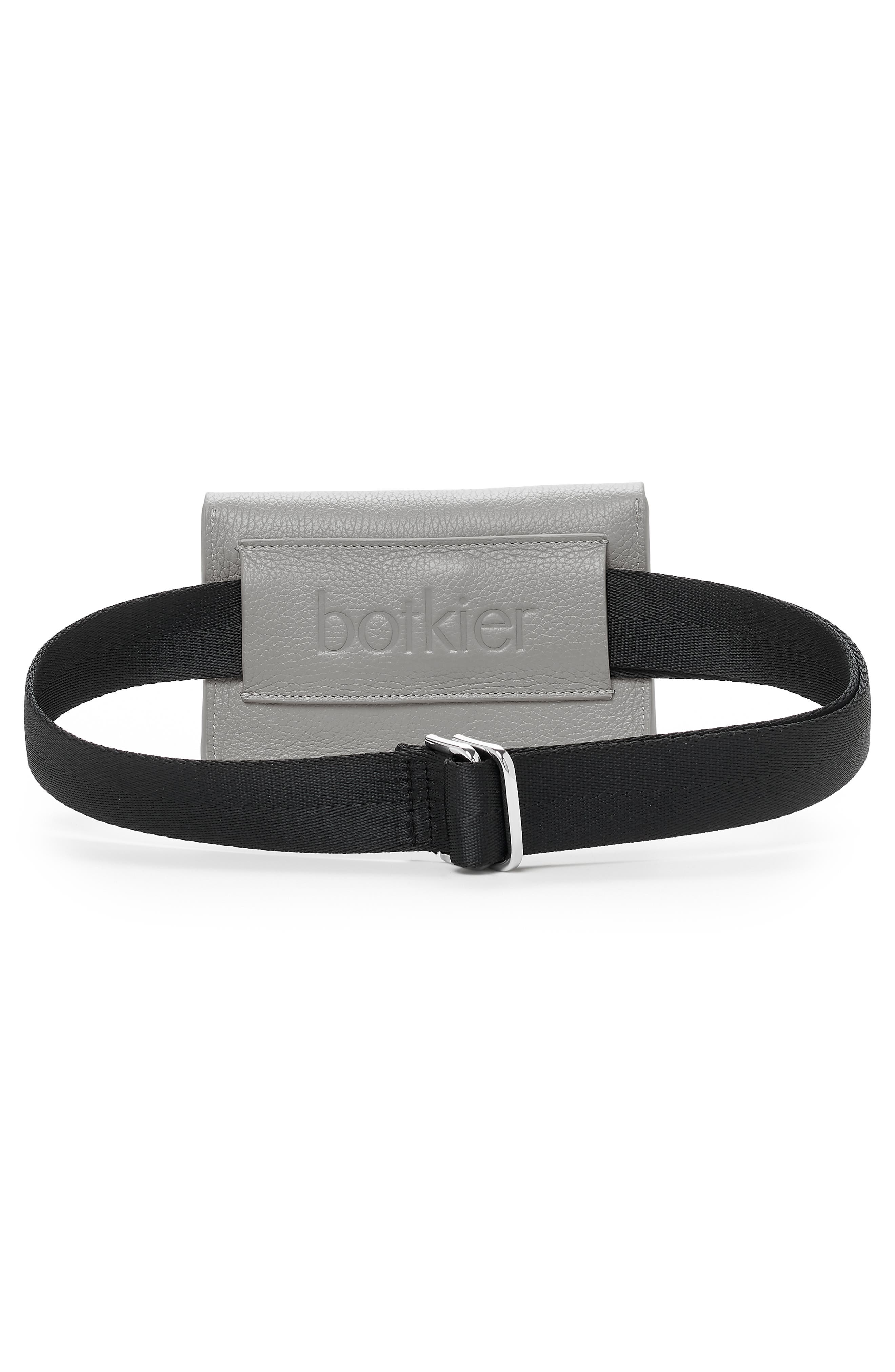BOTKIER,                             Vivi Calfskin Leather Belt Bag,                             Alternate thumbnail 2, color,                             SILVER GREY