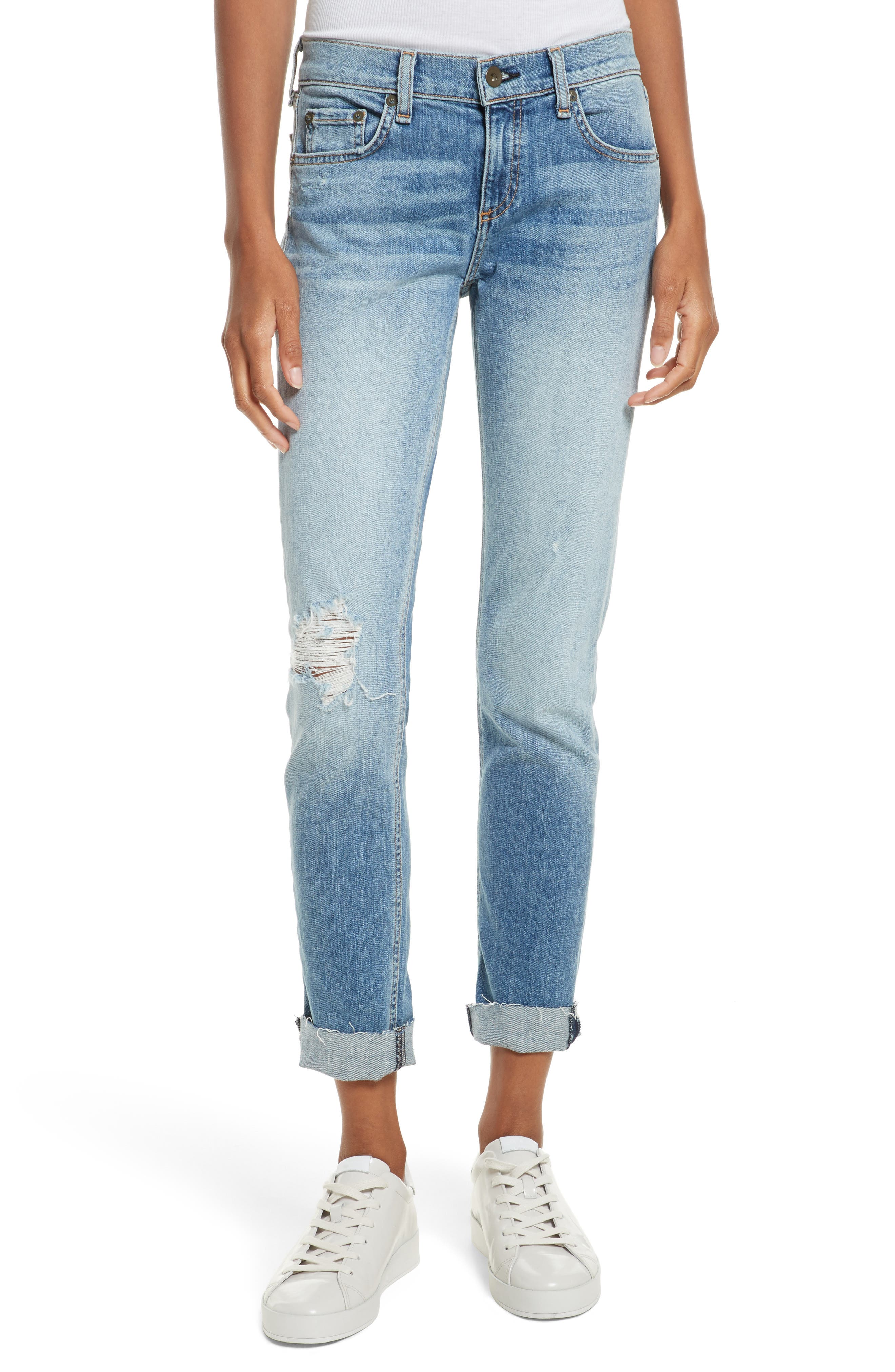 The Dre Slim Boyfriend Jeans,                             Main thumbnail 1, color,