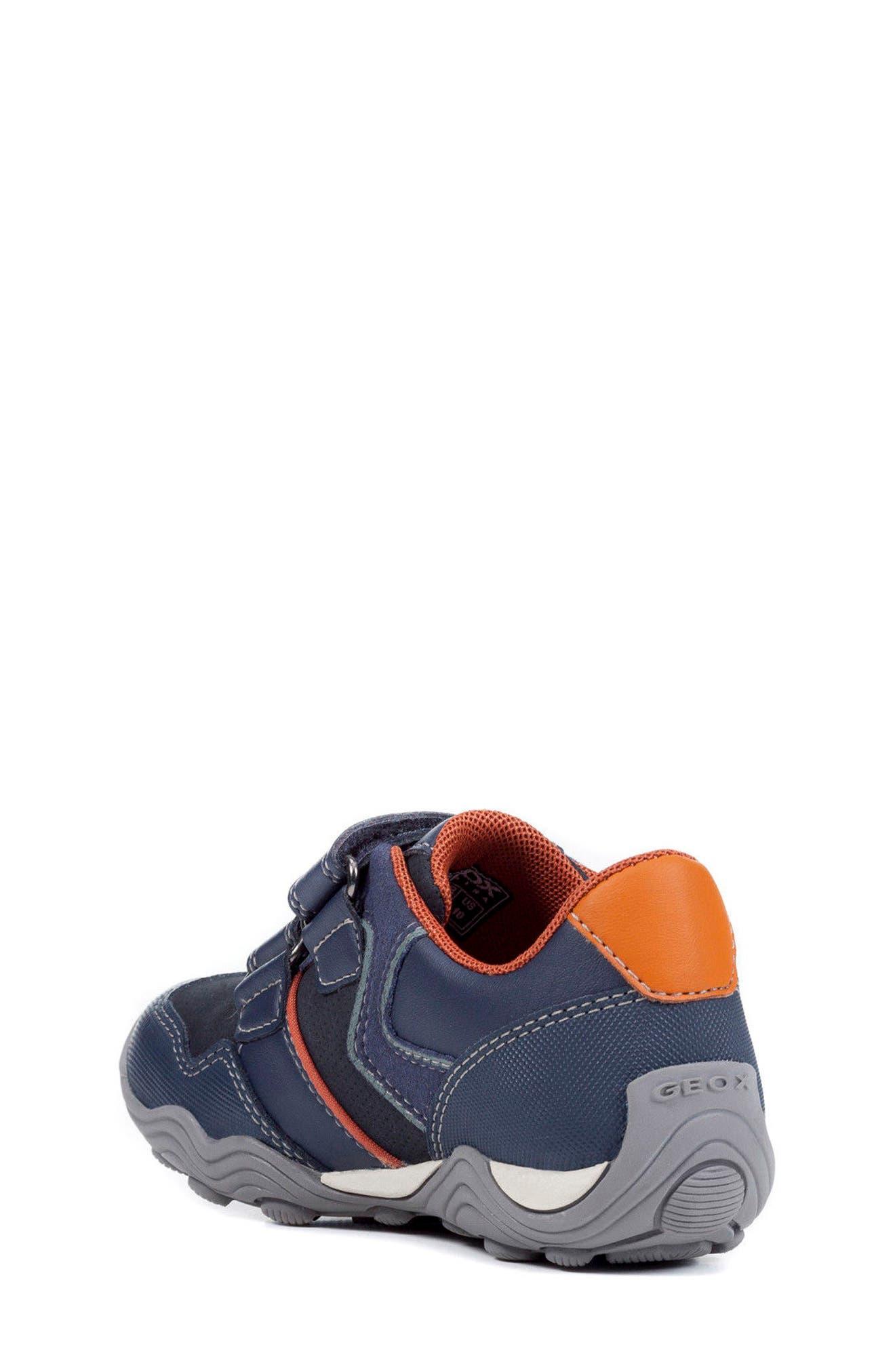 Jr Arno 13 Sneaker,                             Alternate thumbnail 2, color,                             NAVY/ DARK ORANGE