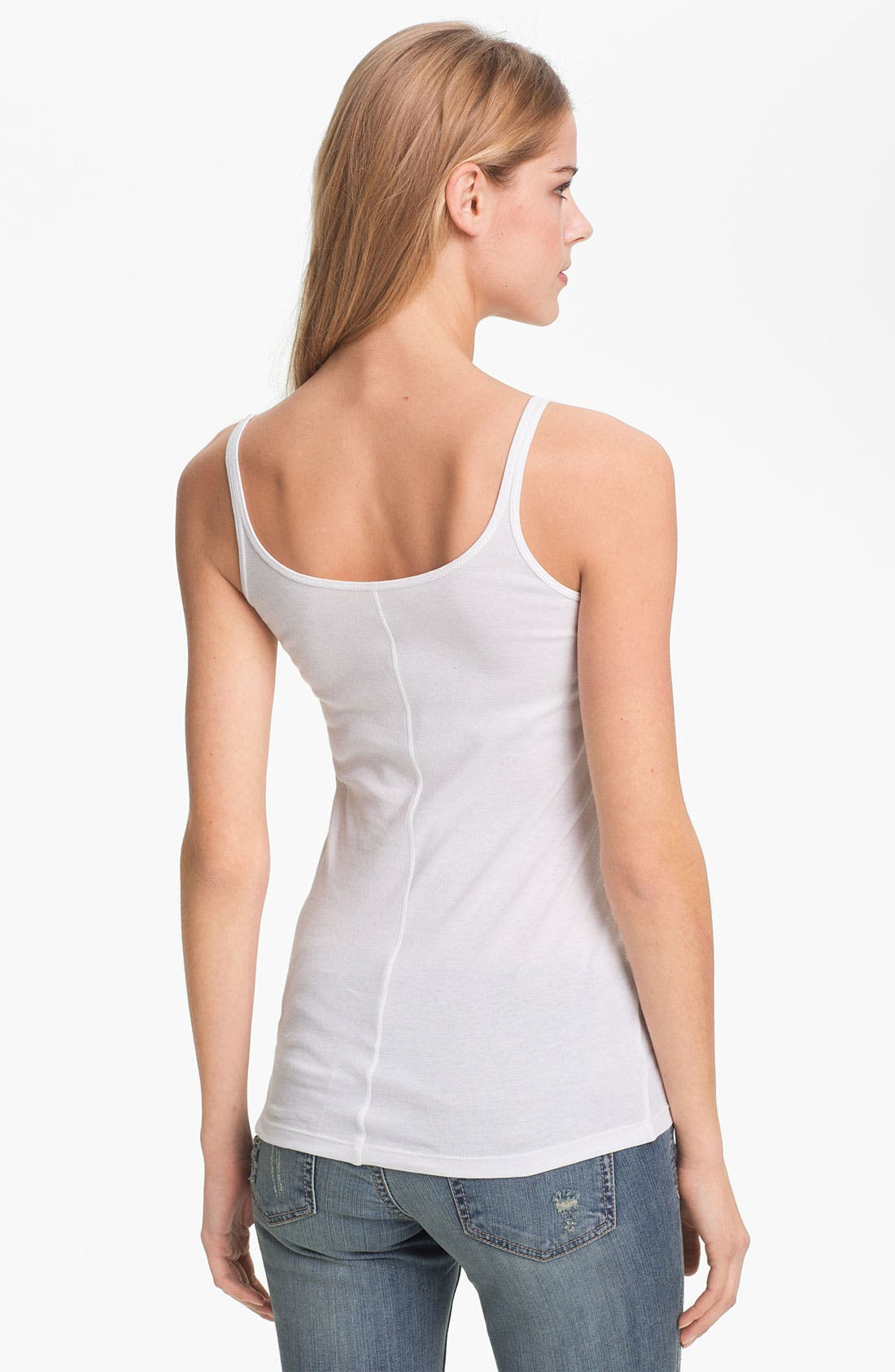 Skinny Strap Tank,                             Alternate thumbnail 3, color,                             100