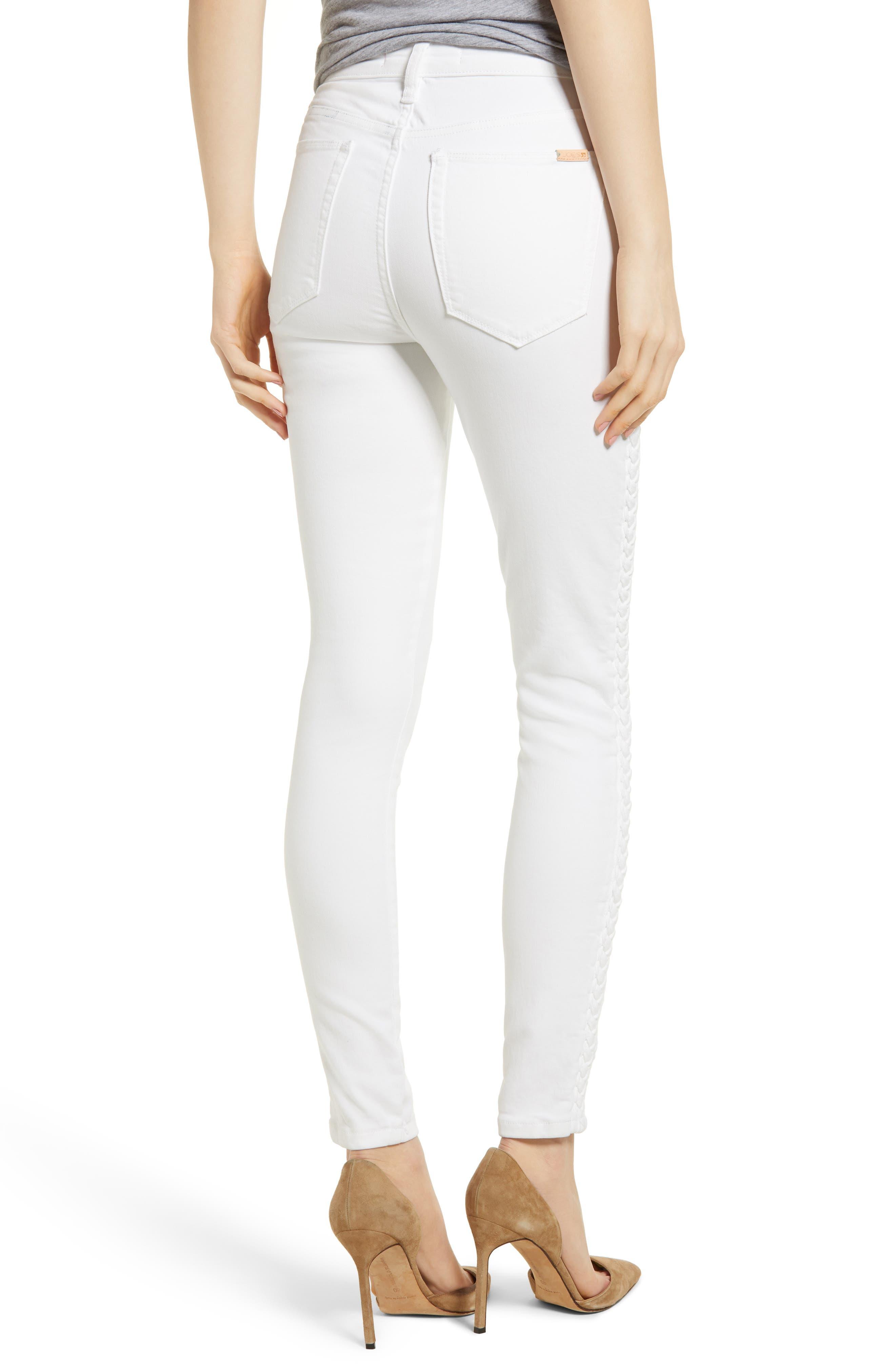 Charlie High Waist Skinny Jeans,                             Alternate thumbnail 2, color,                             PORSCHA