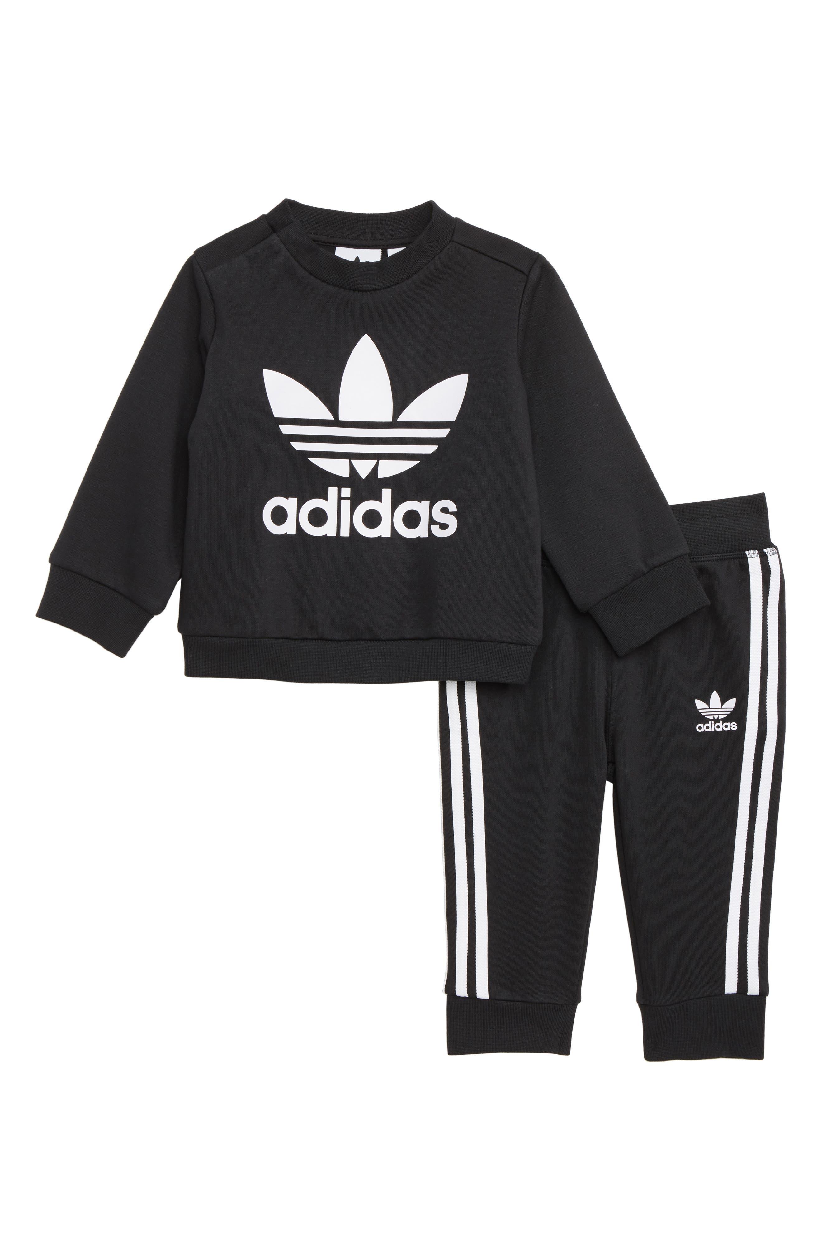 Infant Boys Adidas Originals Crewneck Sweatshirt  Sweatpants Set