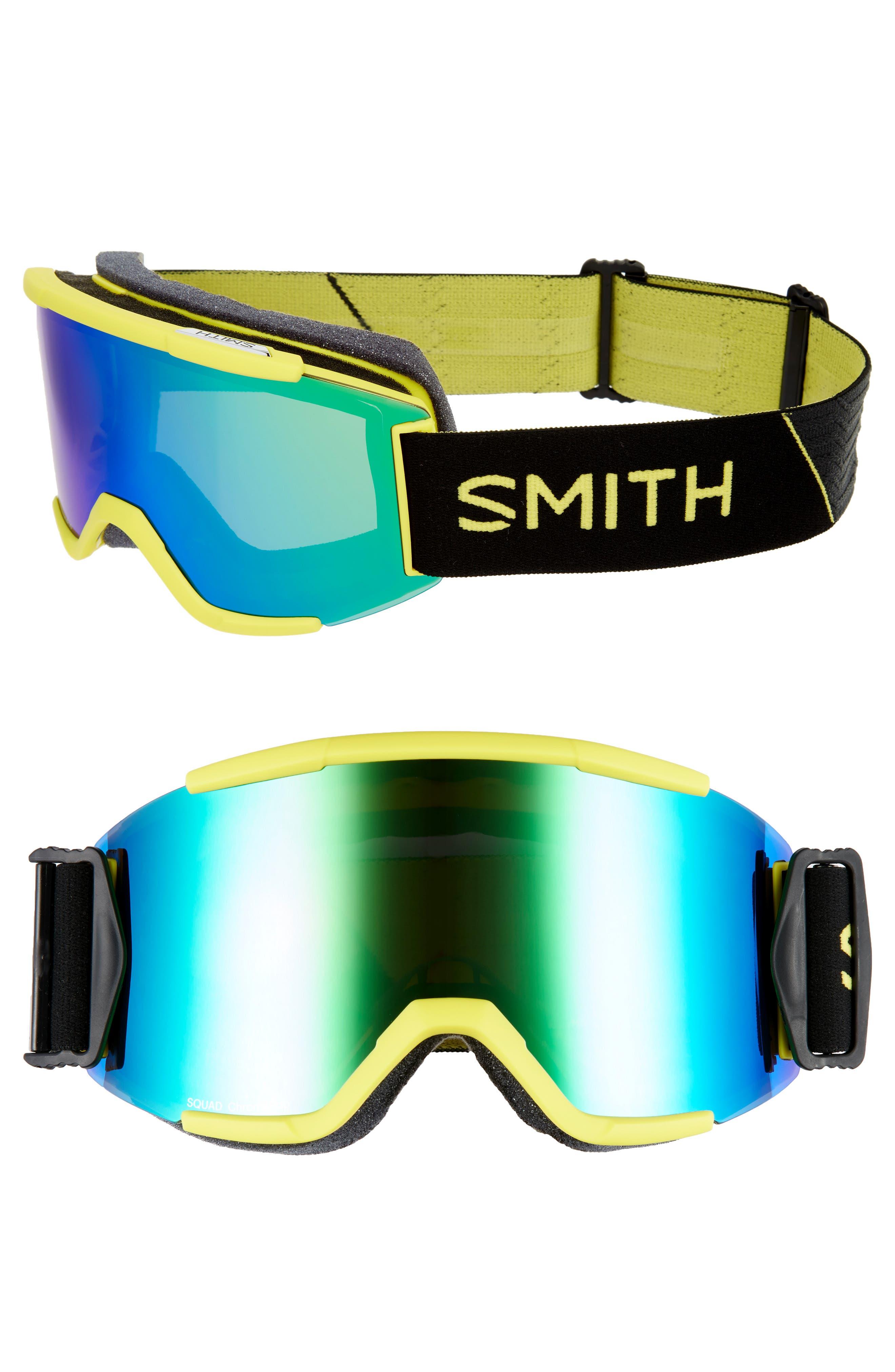 Squad Chromapop 180mm Snow Goggles,                             Main thumbnail 1, color,                             CITRON GLOW