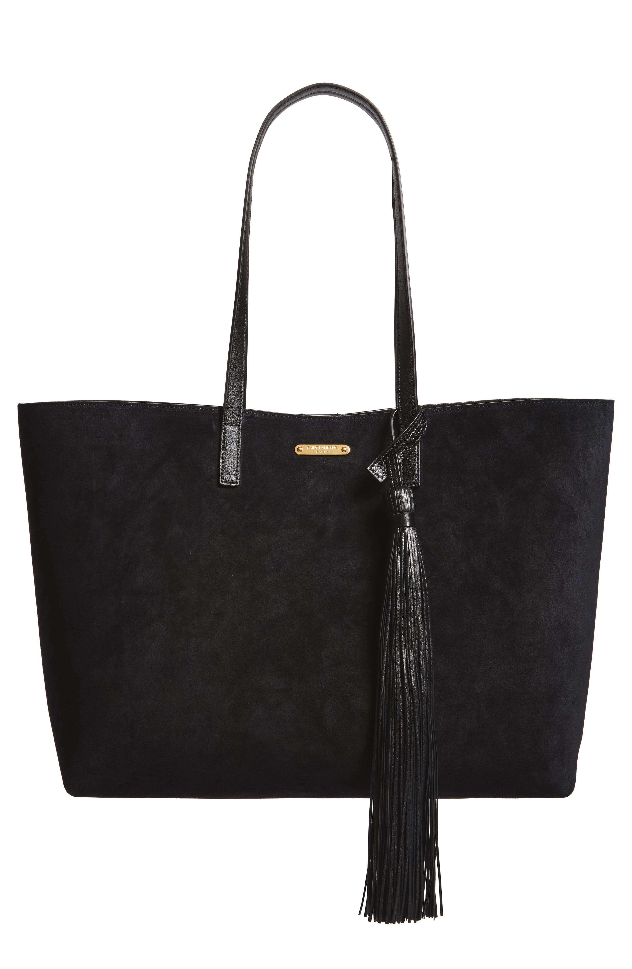 East/West Suede Tote,                         Main,                         color, 001