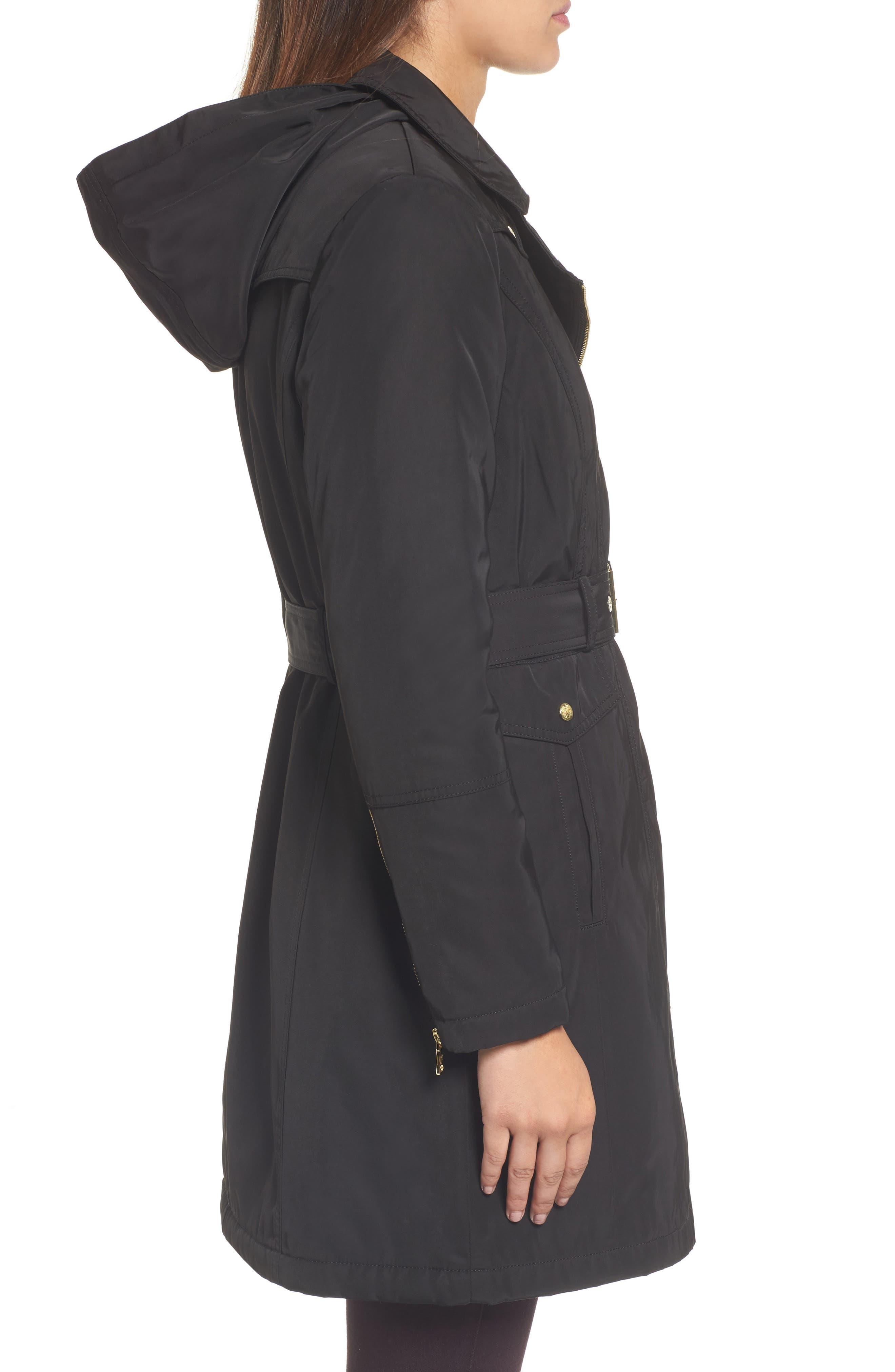 Belted Raincoat,                             Alternate thumbnail 3, color,                             001