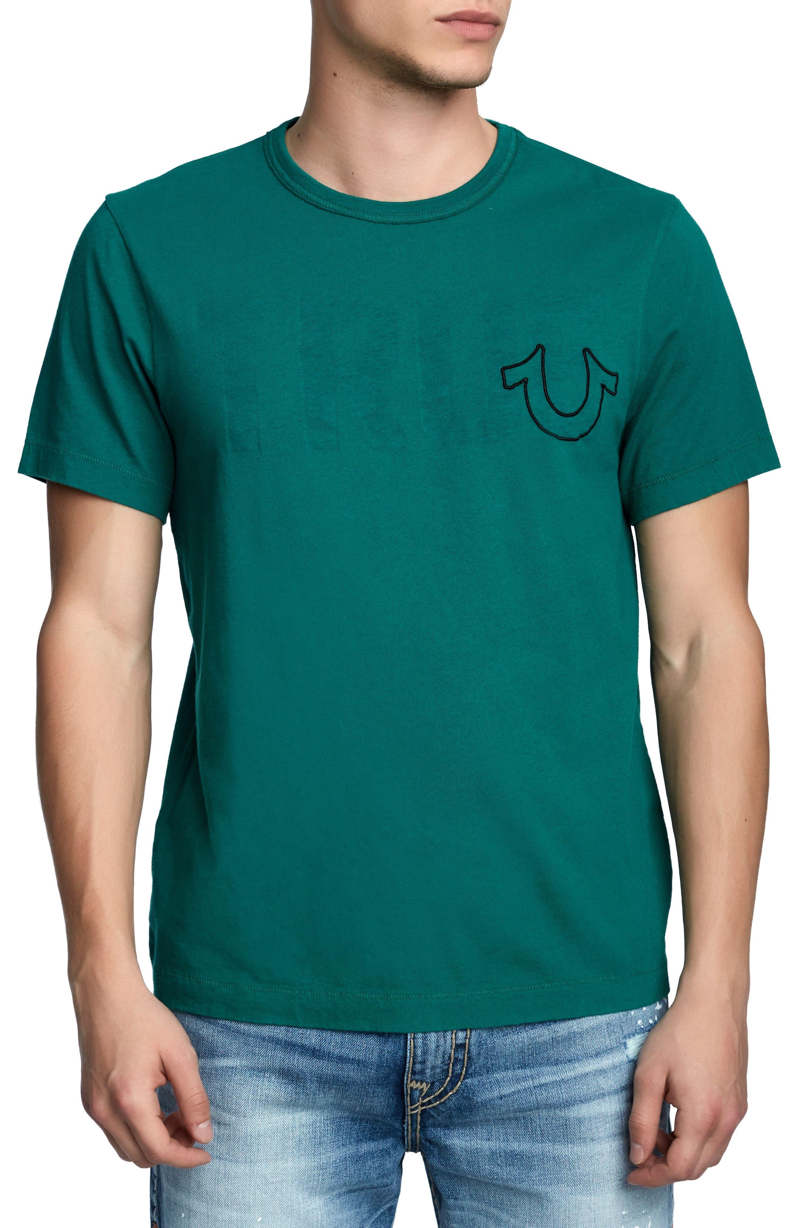 True Slogan T-Shirt,                         Main,                         color, DARK AGAVE