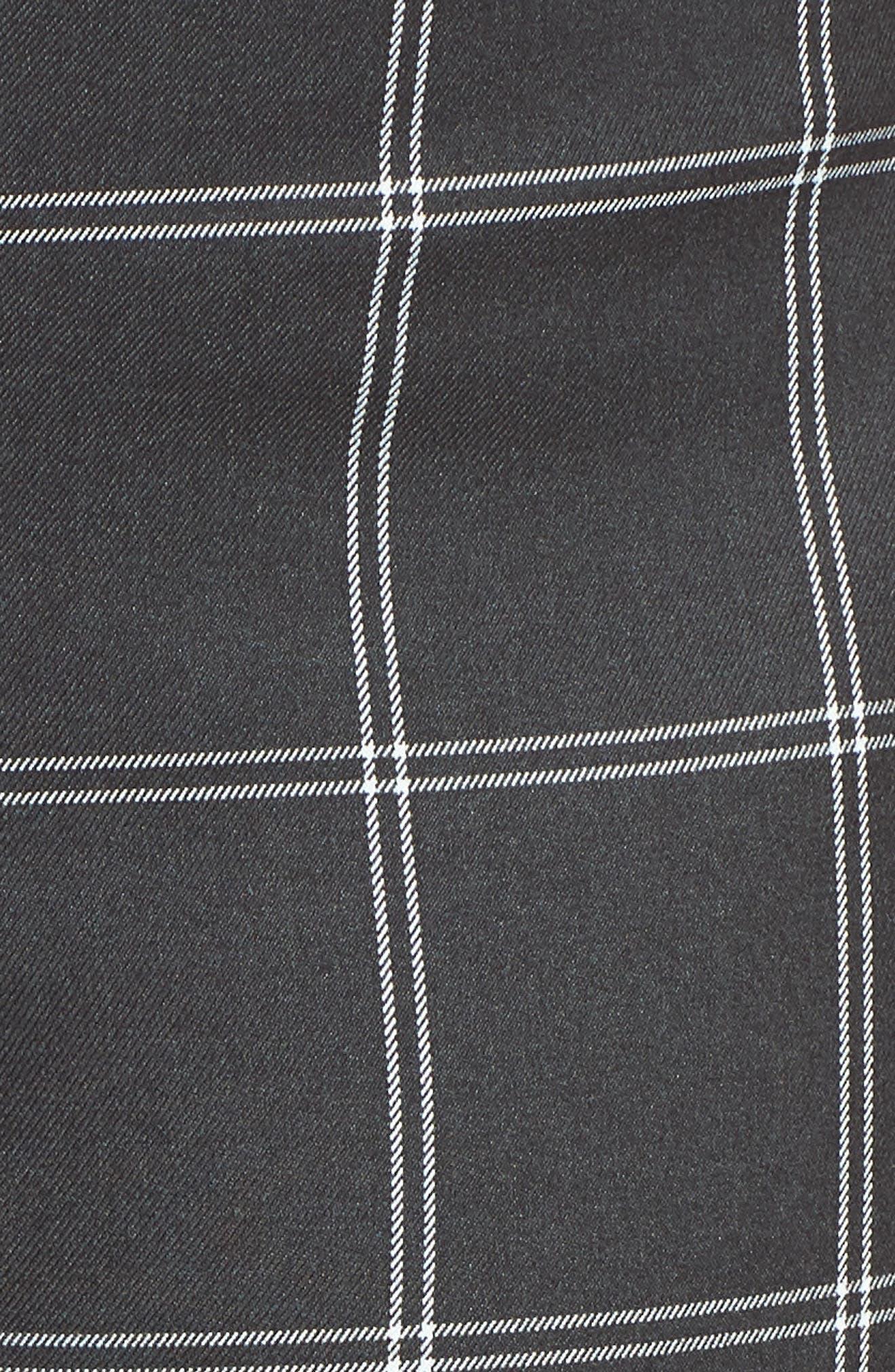 Windowpane Check Wide Leg Crop Pants,                             Alternate thumbnail 5, color,                             GREY TWILL PLAID