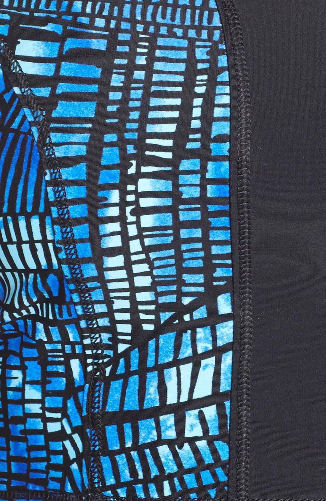 'Crackle' Mesh Back Rashguard,                             Alternate thumbnail 5, color,                             400