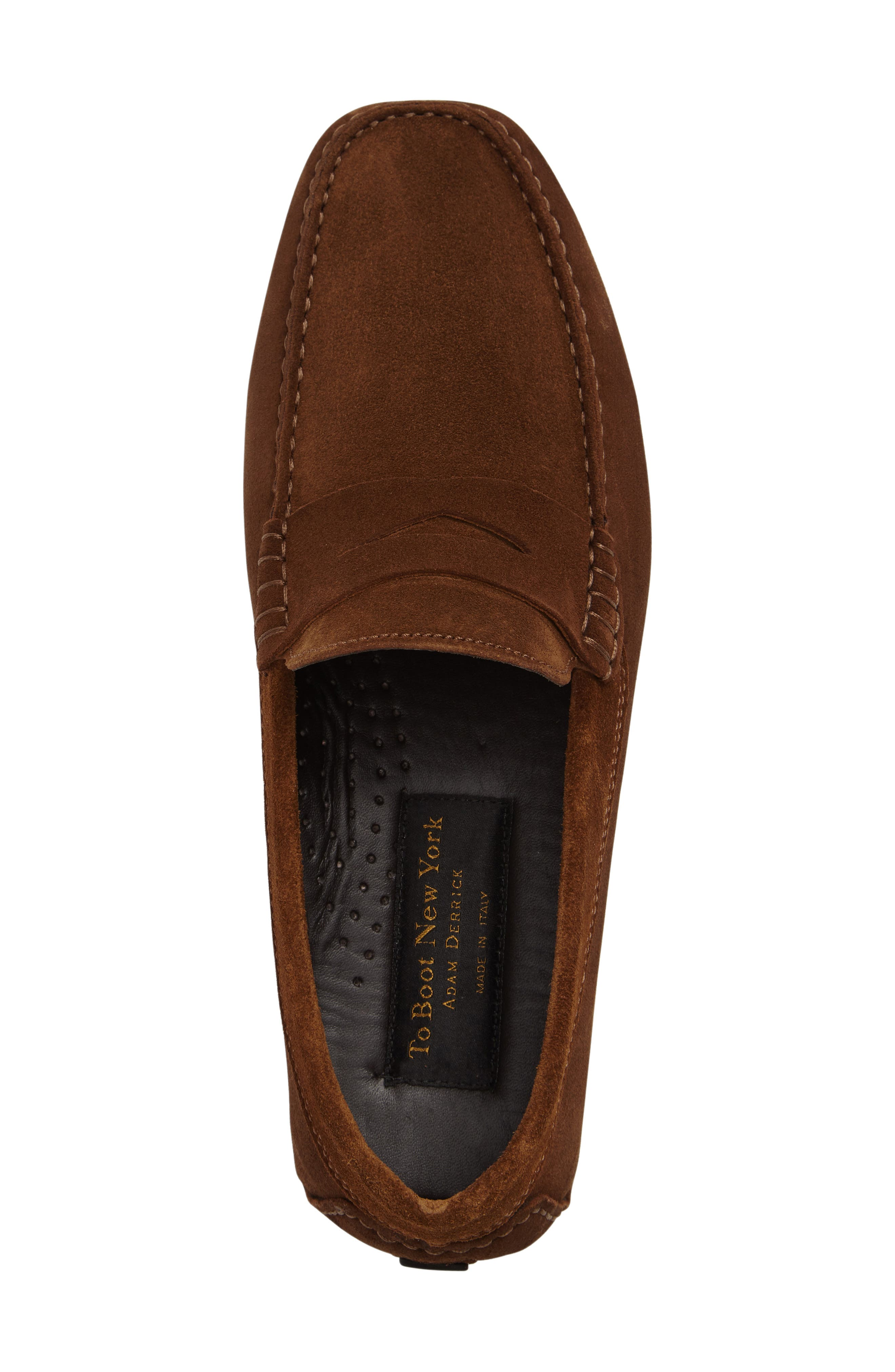 Mitchum Driving Shoe,                             Alternate thumbnail 3, color,                             BROWN/ BROWN SUEDE