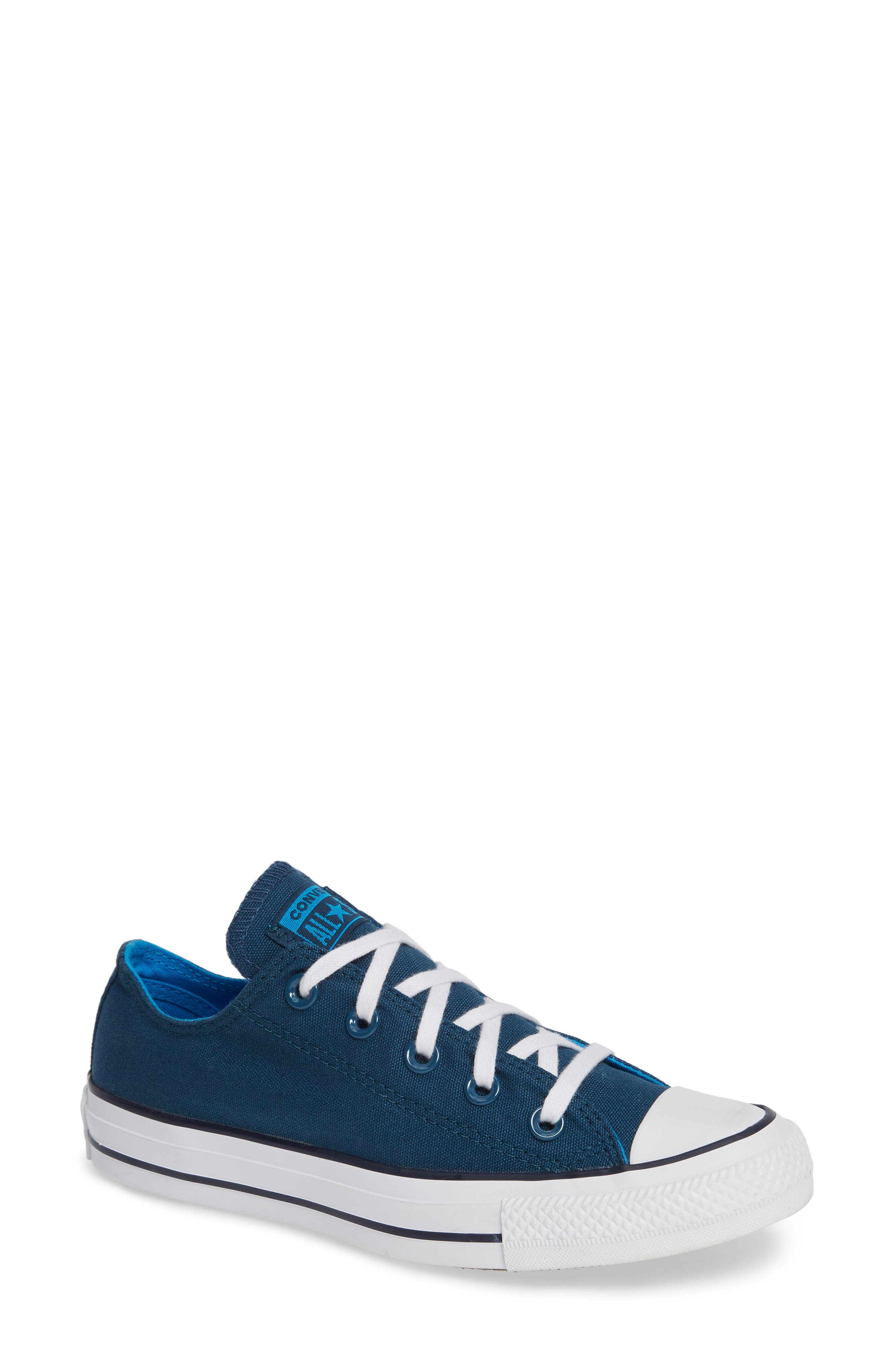 Chuck Taylor<sup>®</sup> All Star<sup>®</sup> Seasonal Ox Low Top Sneaker,                             Main thumbnail 1, color,                             BLUE FIR