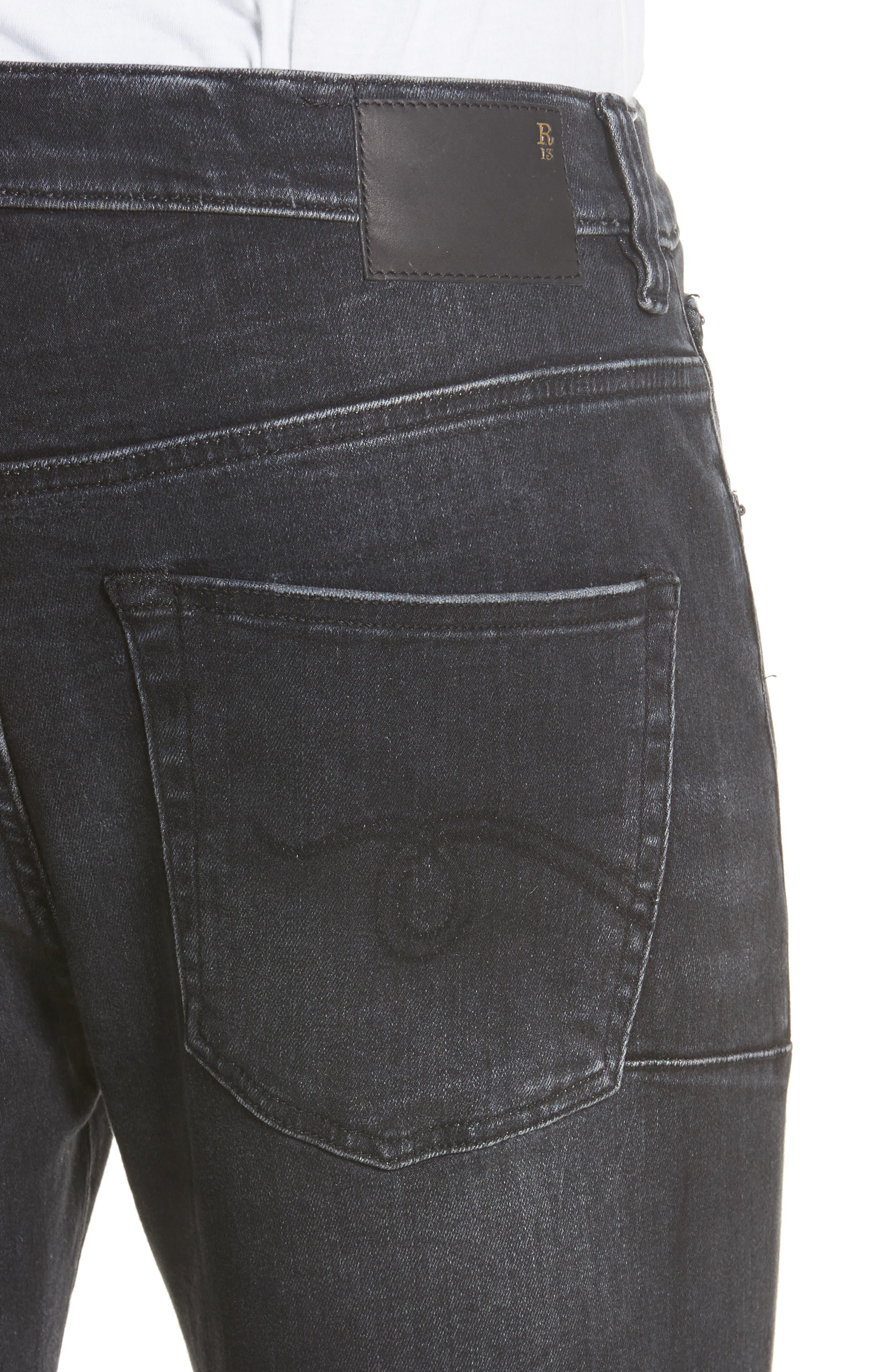 Skate Jeans,                             Alternate thumbnail 4, color,                             BLACK MARBLE