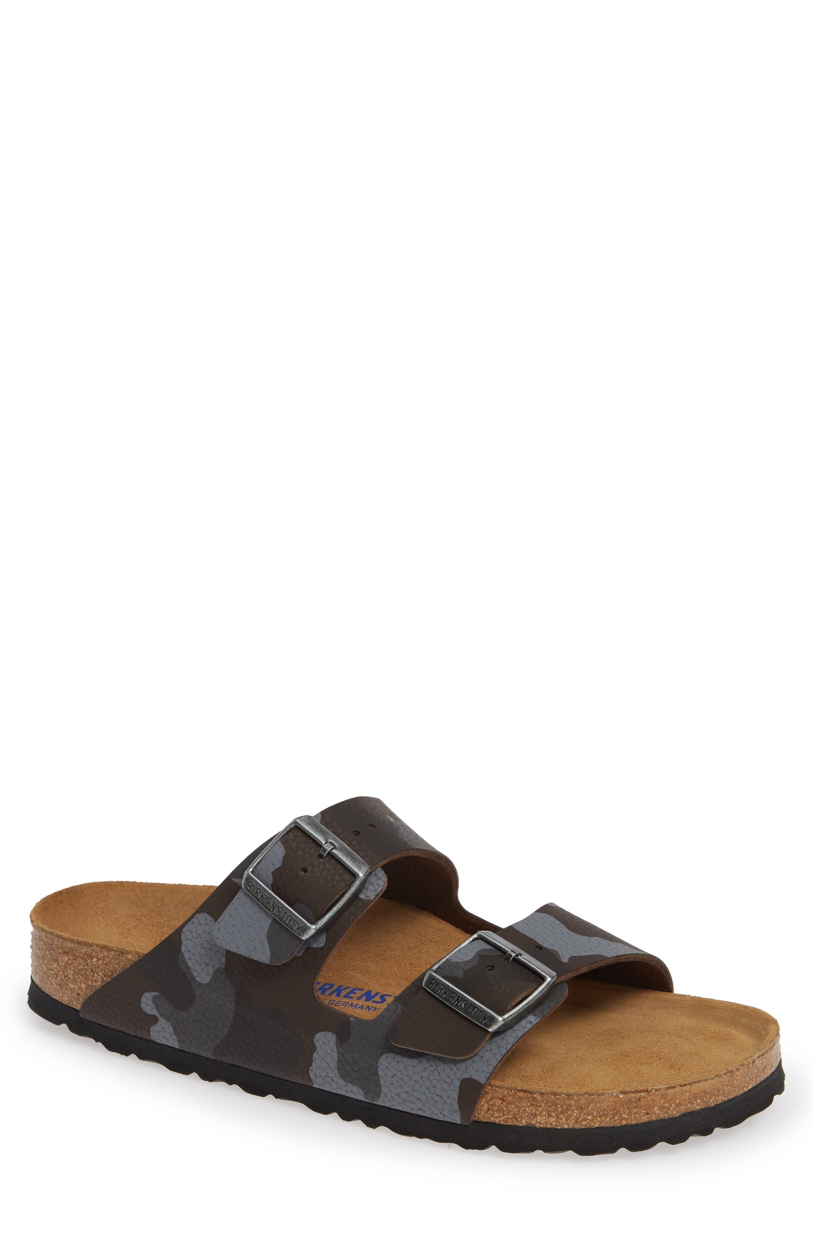 Arizona Soft Slide Sandal,                             Main thumbnail 1, color,                             DESERT SOIL CAMO BROWN