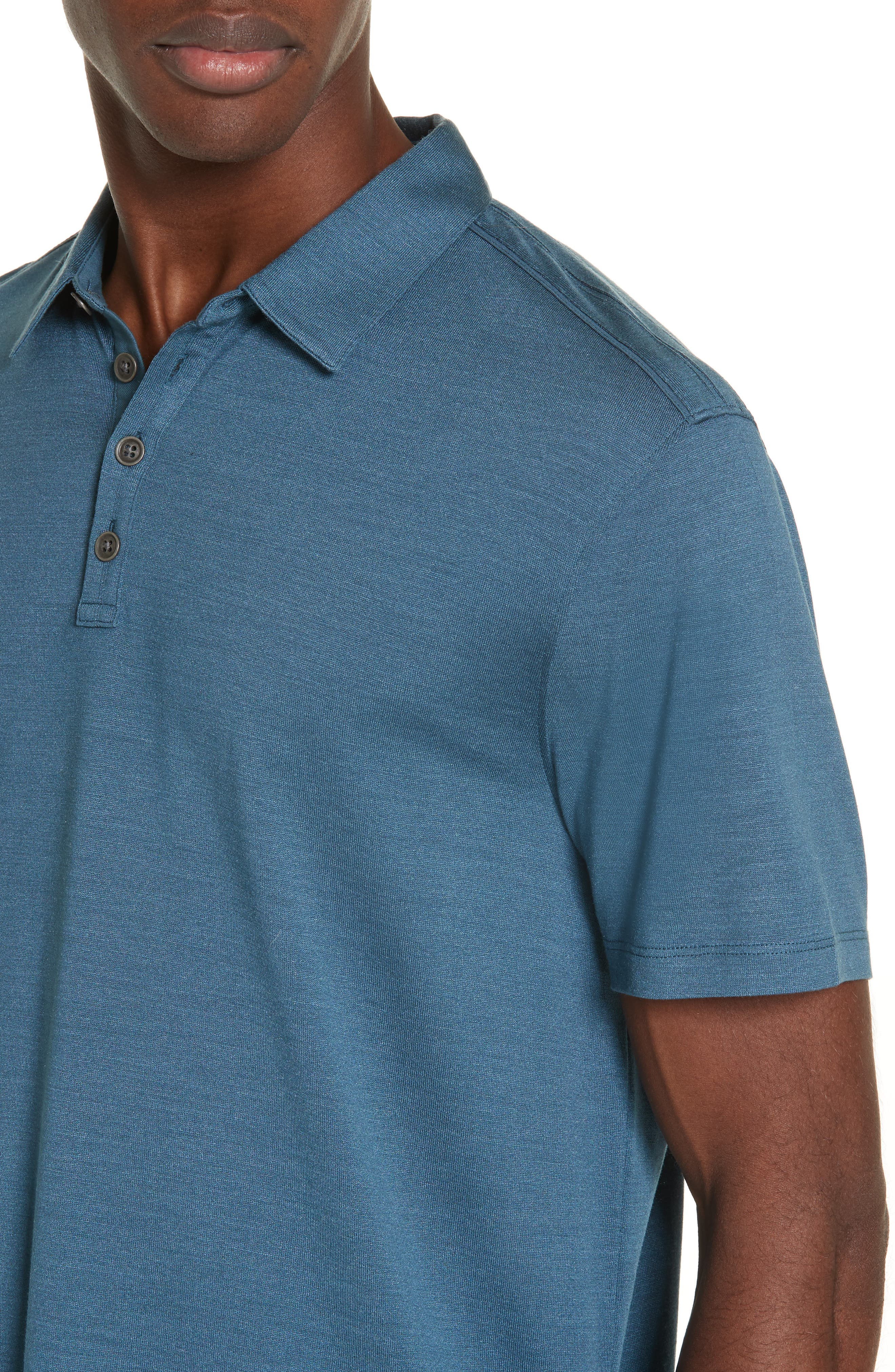 Hampton Jersey Polo,                             Alternate thumbnail 4, color,                             OCEAN BLUE