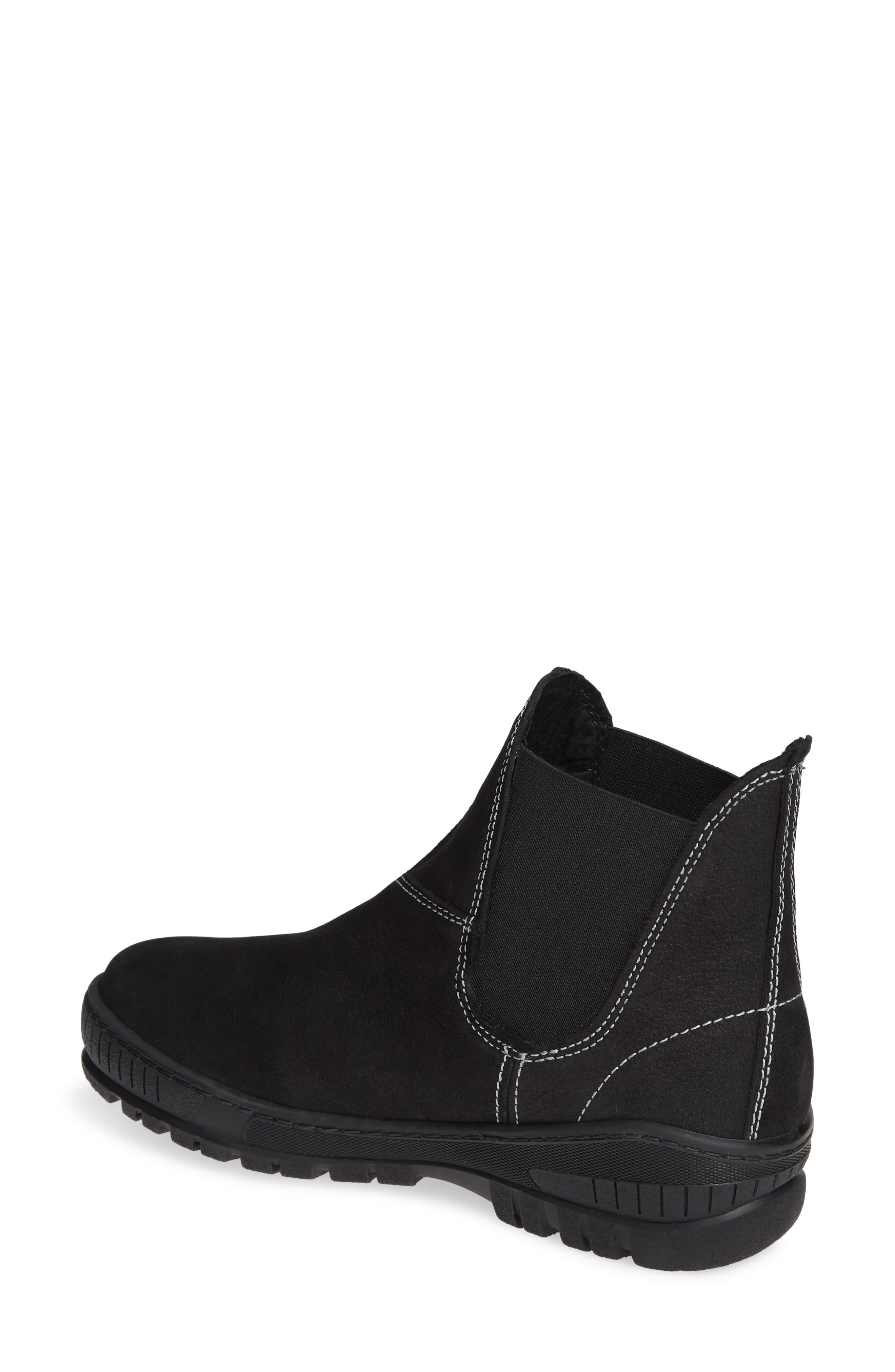 Embark Chelsea Bootie,                             Alternate thumbnail 2, color,                             BLACK LEATHER