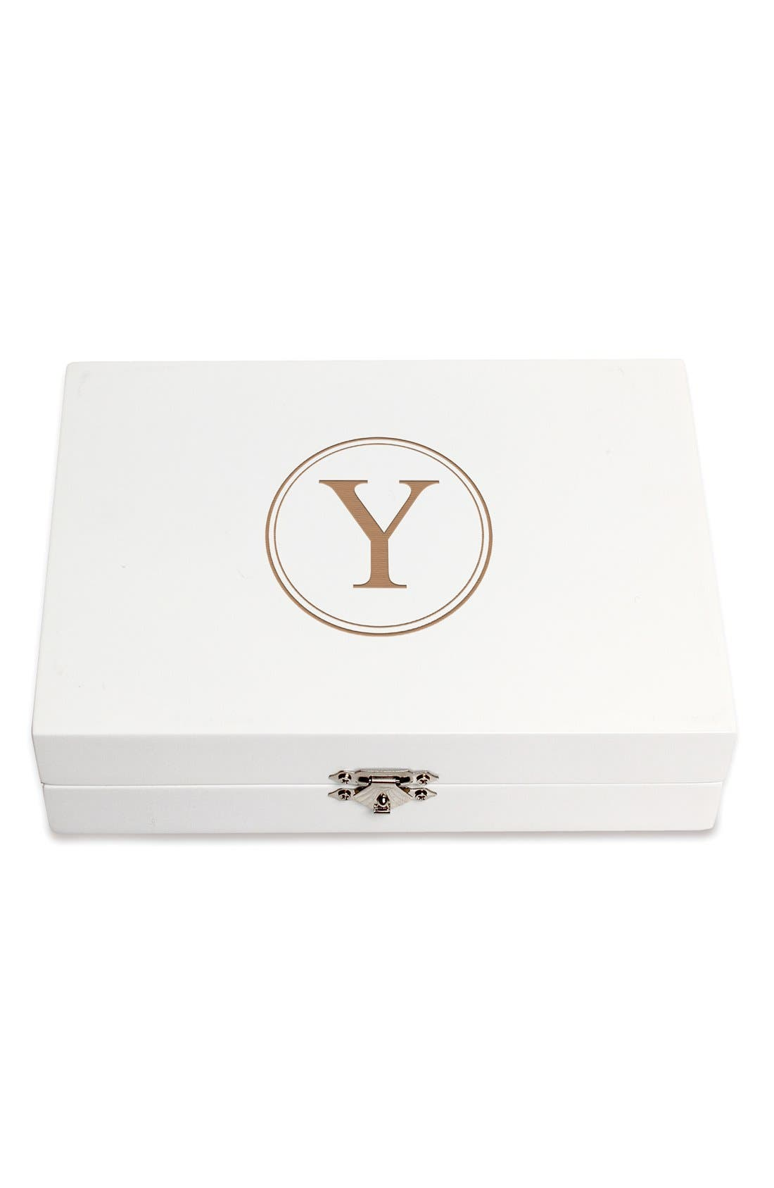 Monogram Wooden Jewelry Box,                             Main thumbnail 53, color,
