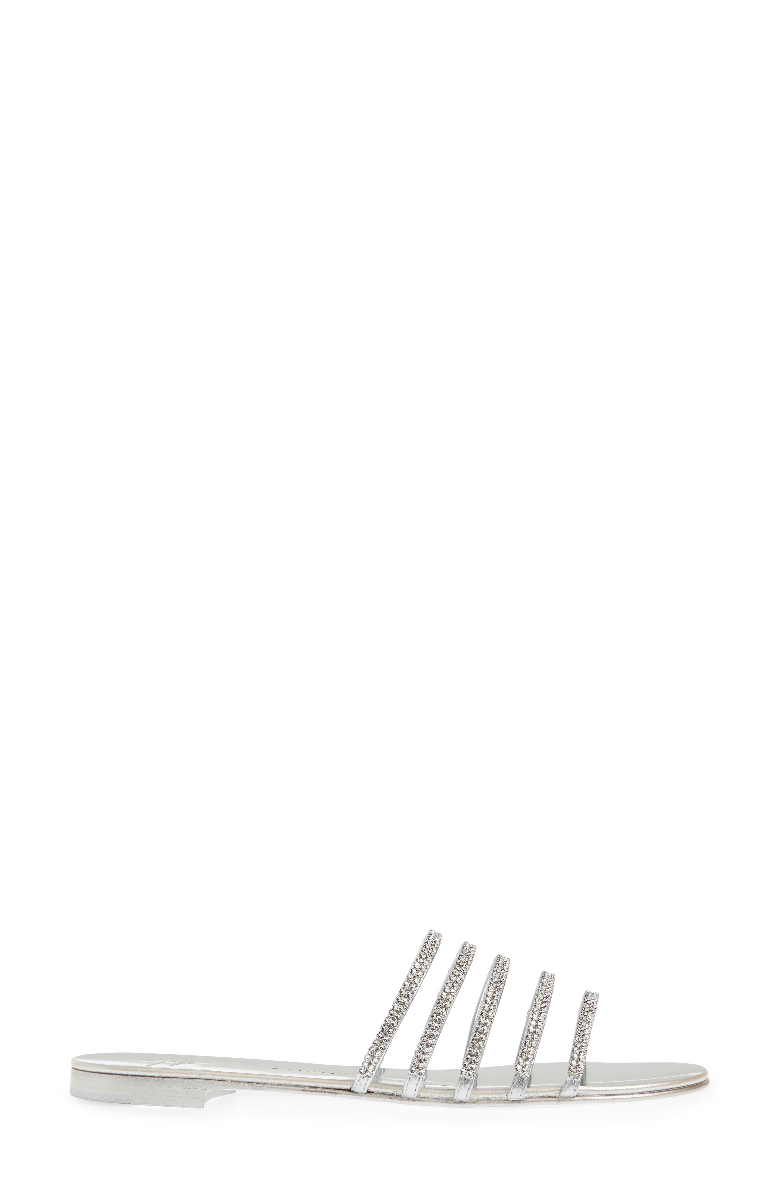 Nuvoroll Crystal Embellished Slide Sandal,                             Alternate thumbnail 3, color,                             043