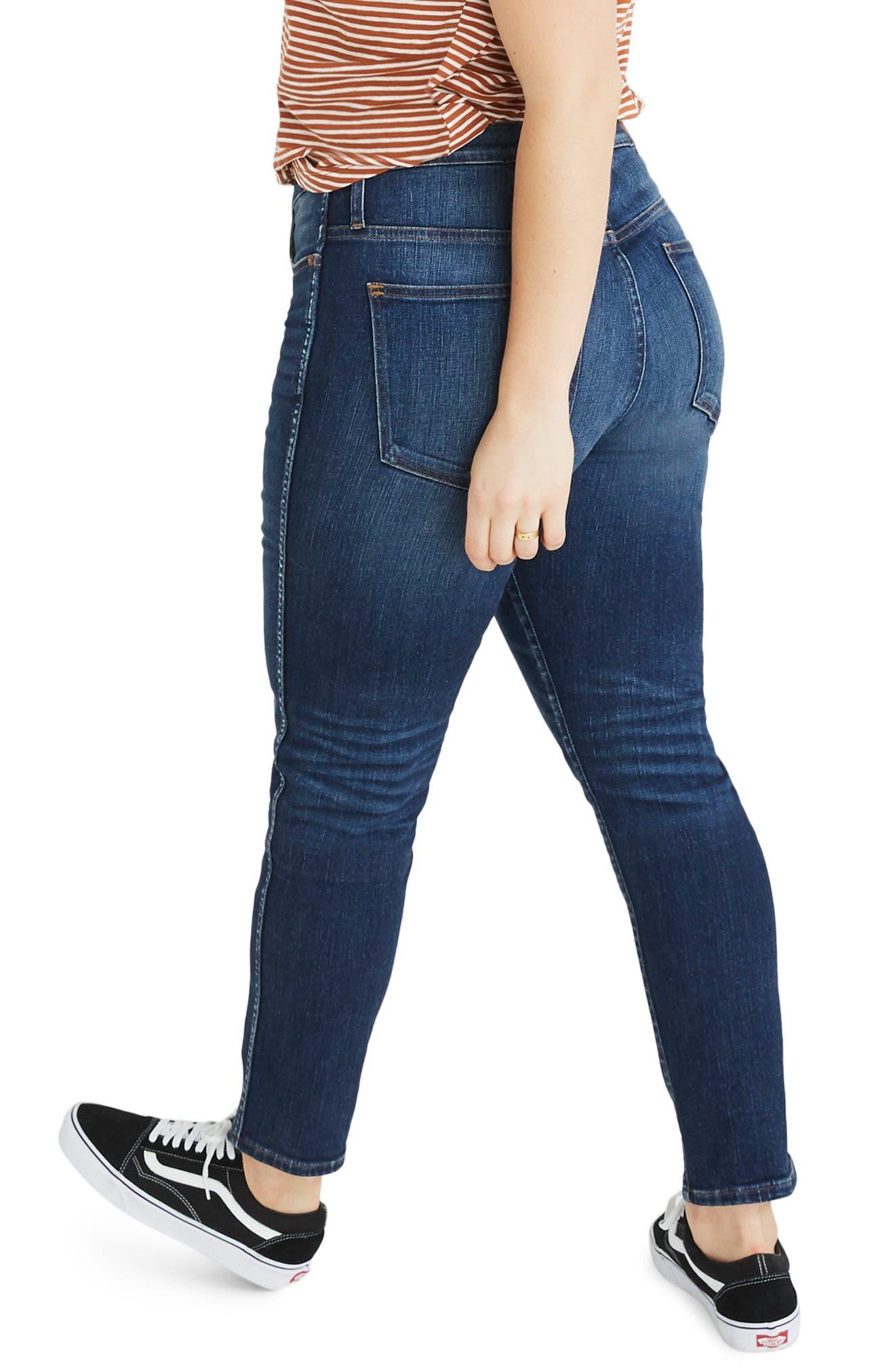 High Waist Slim Straight Leg Jeans,                             Alternate thumbnail 8, color,                             HAMMOND