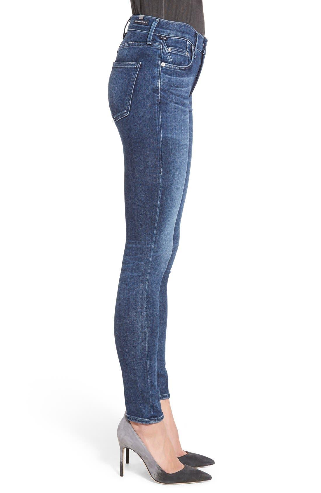Sculpt - Rocket High Waist Skinny Jeans,                             Alternate thumbnail 4, color,                             WAVERLY