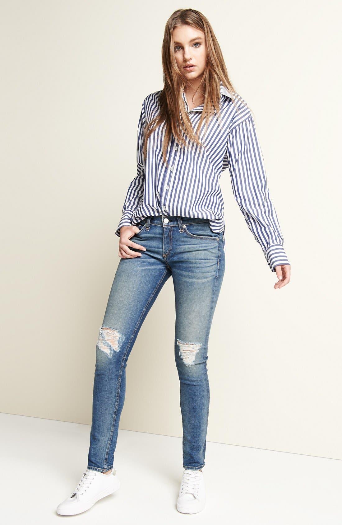 Capri Crop Skinny Jeans,                             Main thumbnail 1, color,                             RAE