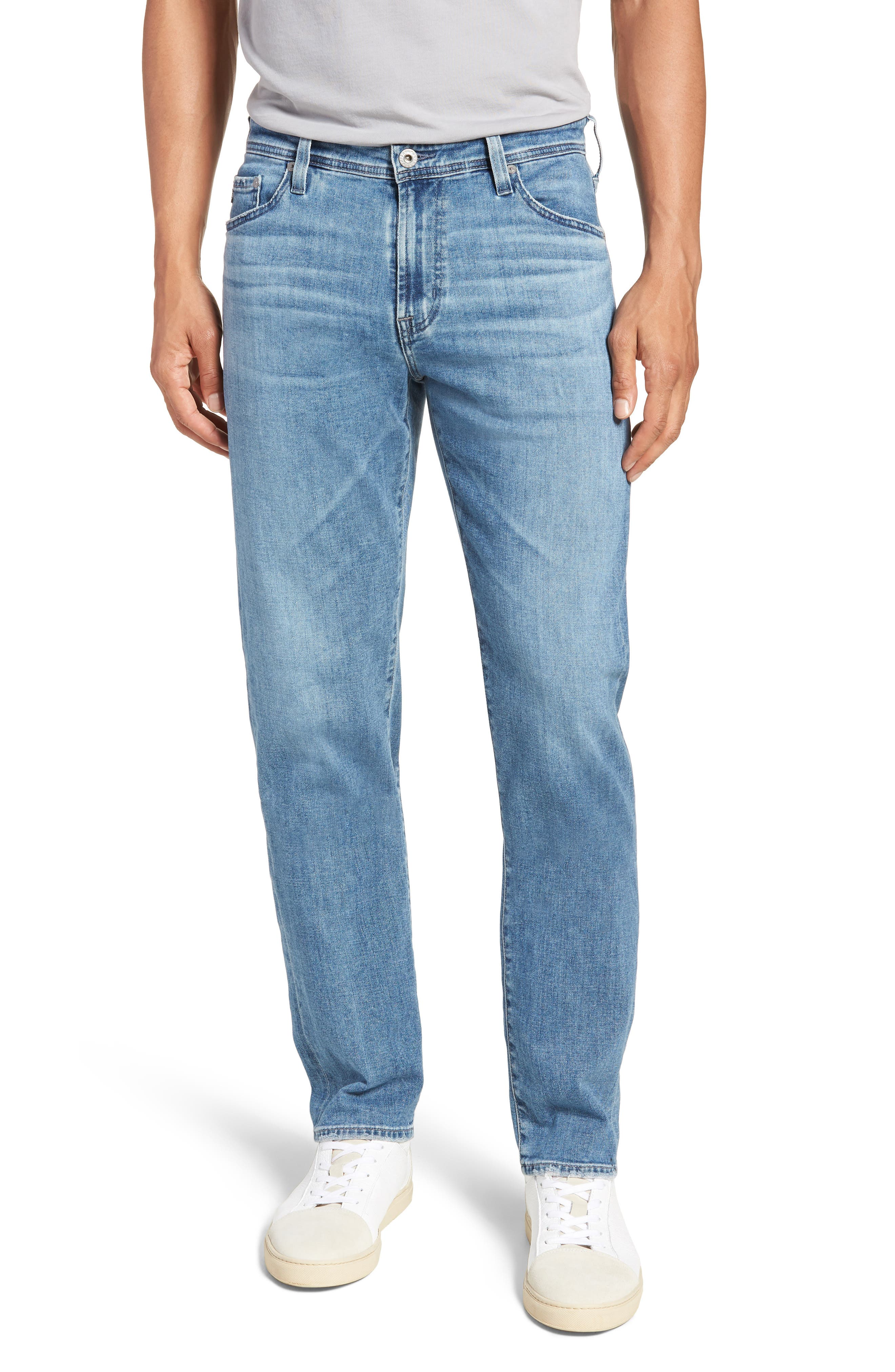 Graduate Slim Straight Leg Jeans,                             Main thumbnail 1, color,                             SANDPIPER