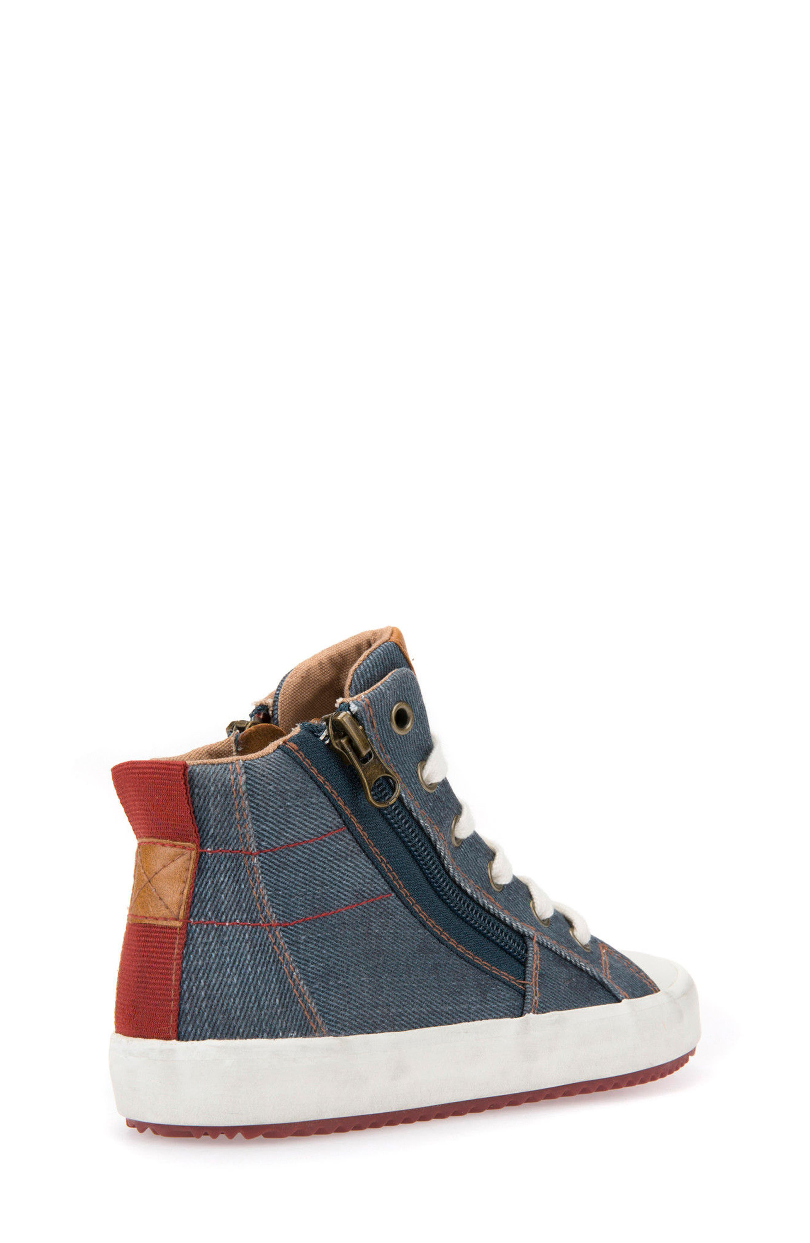 Alonisso High Top Sneaker,                             Alternate thumbnail 2, color,                             BLUE/ DARK RED
