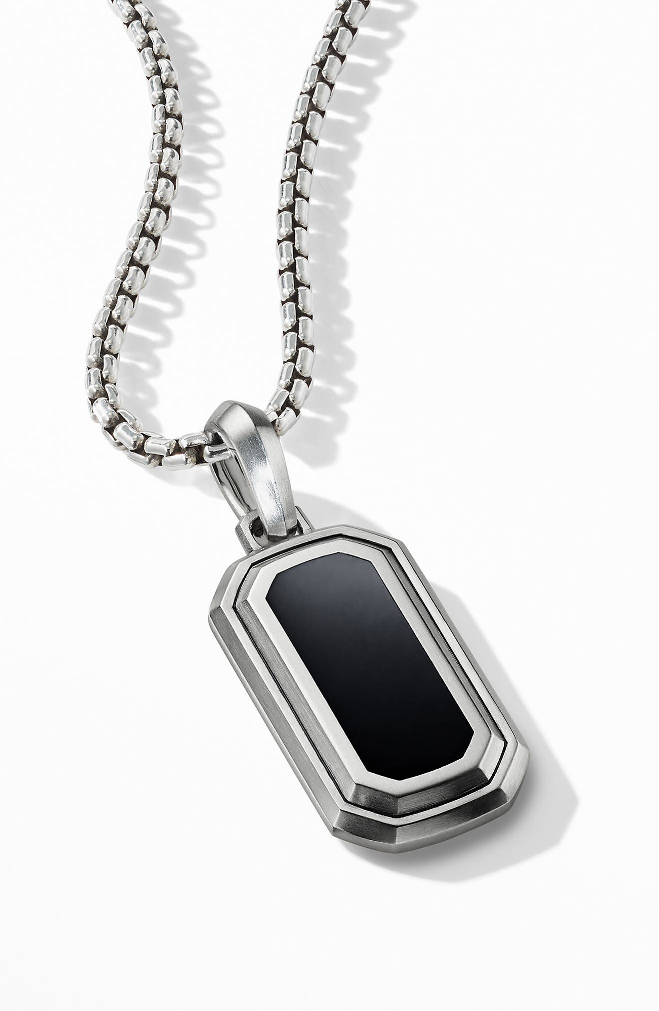 Deco Amulet with Black Onyx,                             Alternate thumbnail 3, color,                             BLACK ONYX