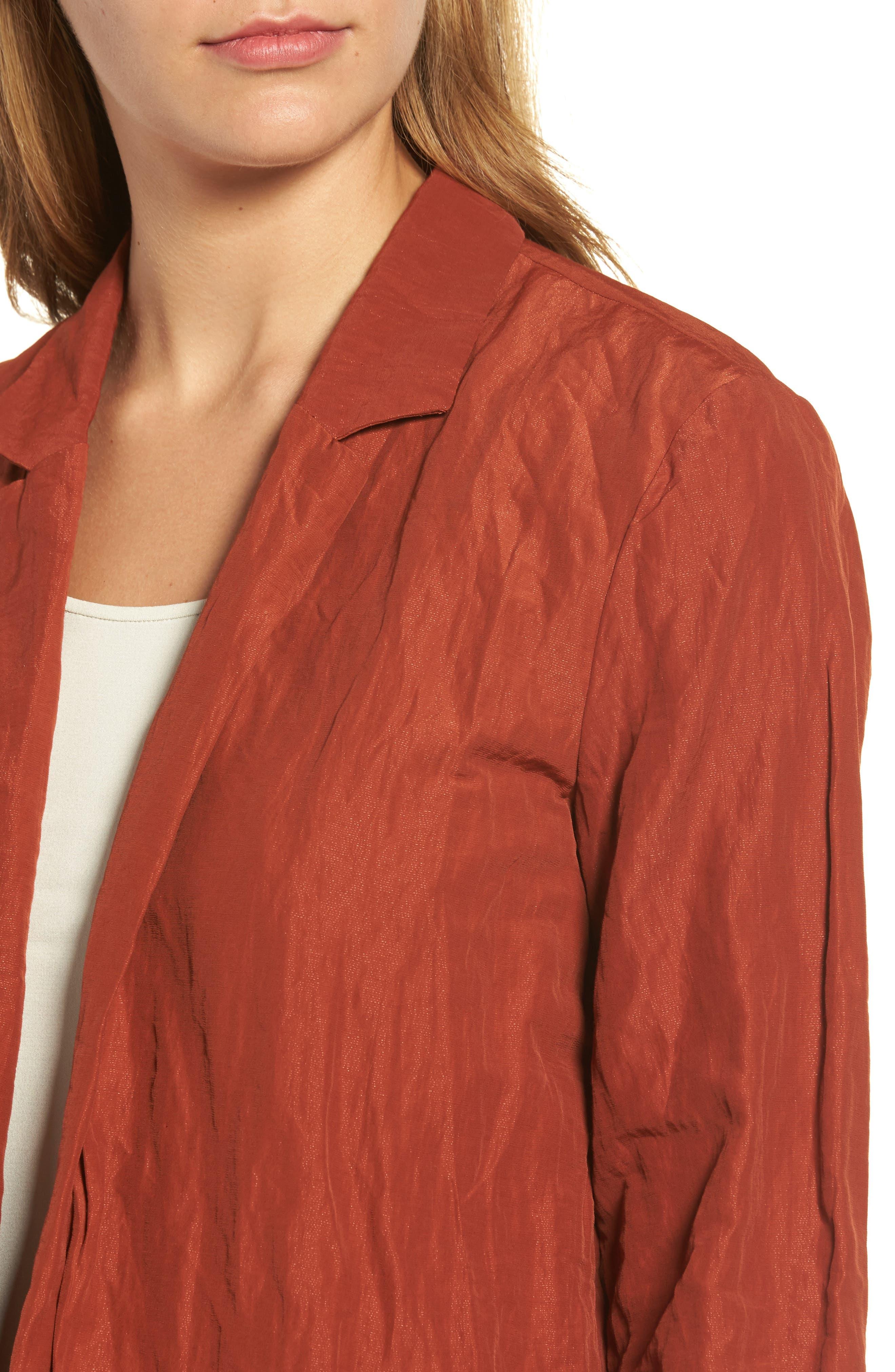 Notch Collar Long Jacket,                             Alternate thumbnail 4, color,                             620