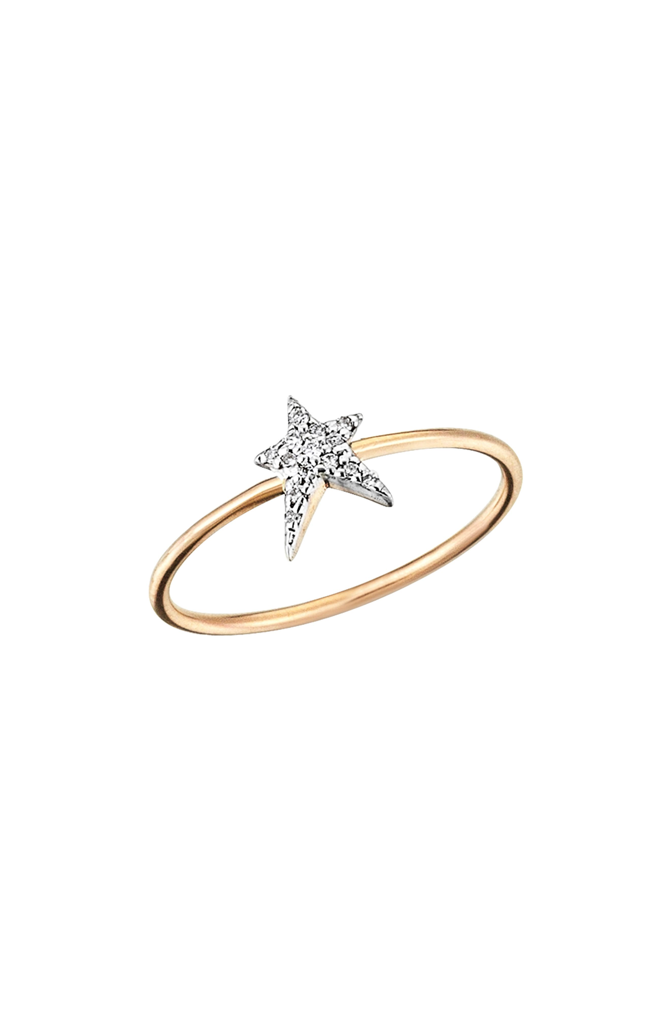 Star Struck Diamond Ring,                             Main thumbnail 1, color,                             ROSE GOLD