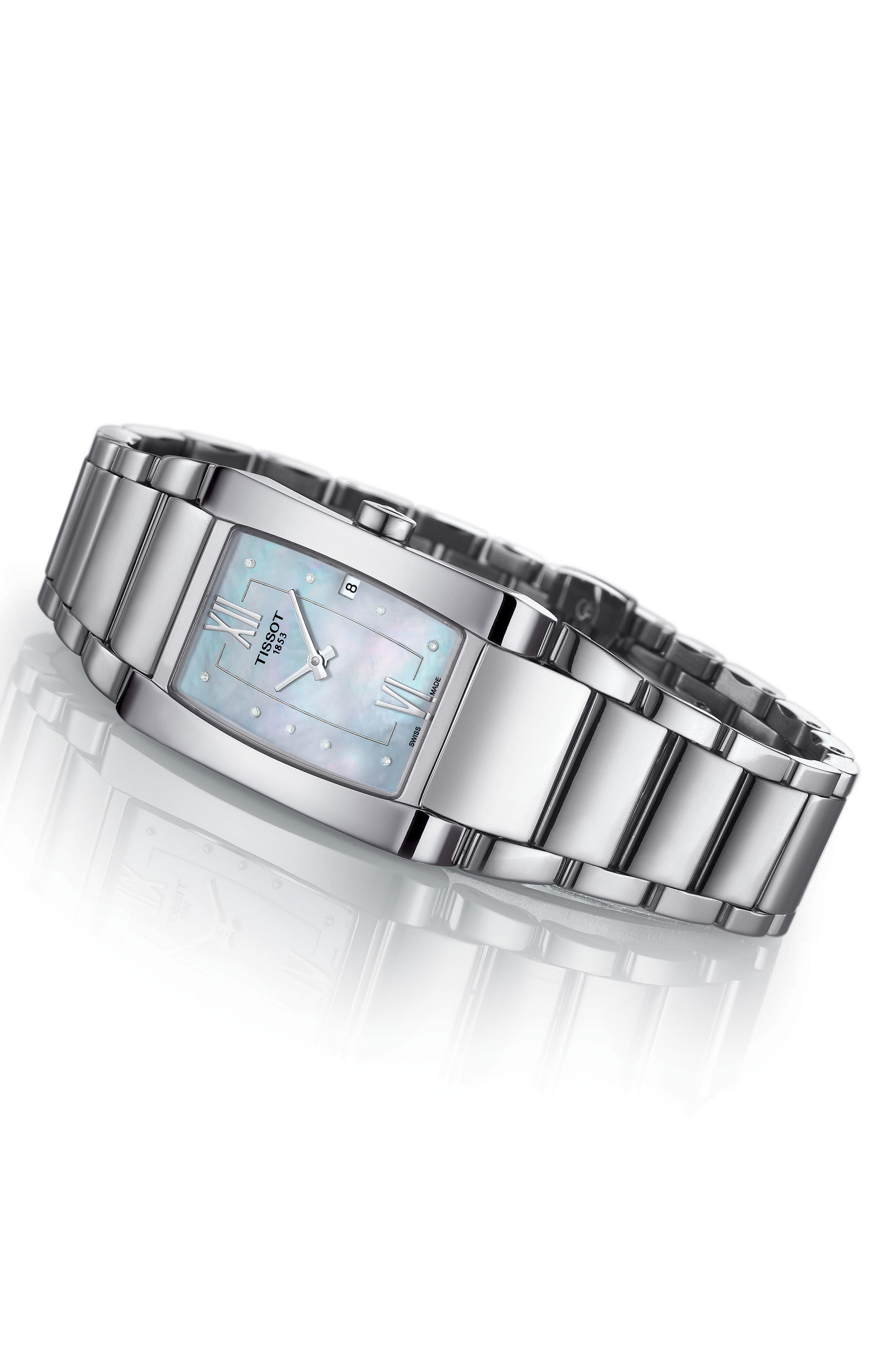 TISSOT,                             Generosi-T Bracelet Watch, 27mm,                             Alternate thumbnail 2, color,                             SILVER/ MOTHER OF PEARL