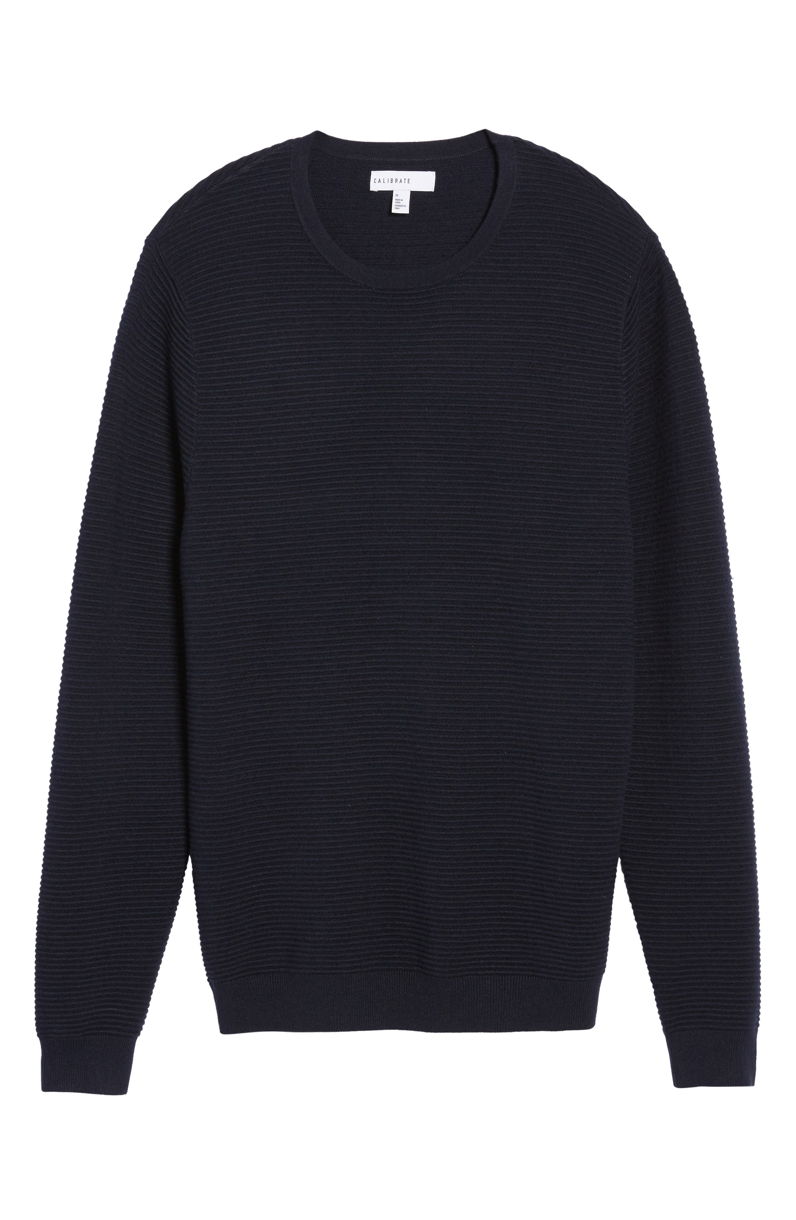 Ottoman Ribbed Crewneck Sweater,                             Alternate thumbnail 16, color,