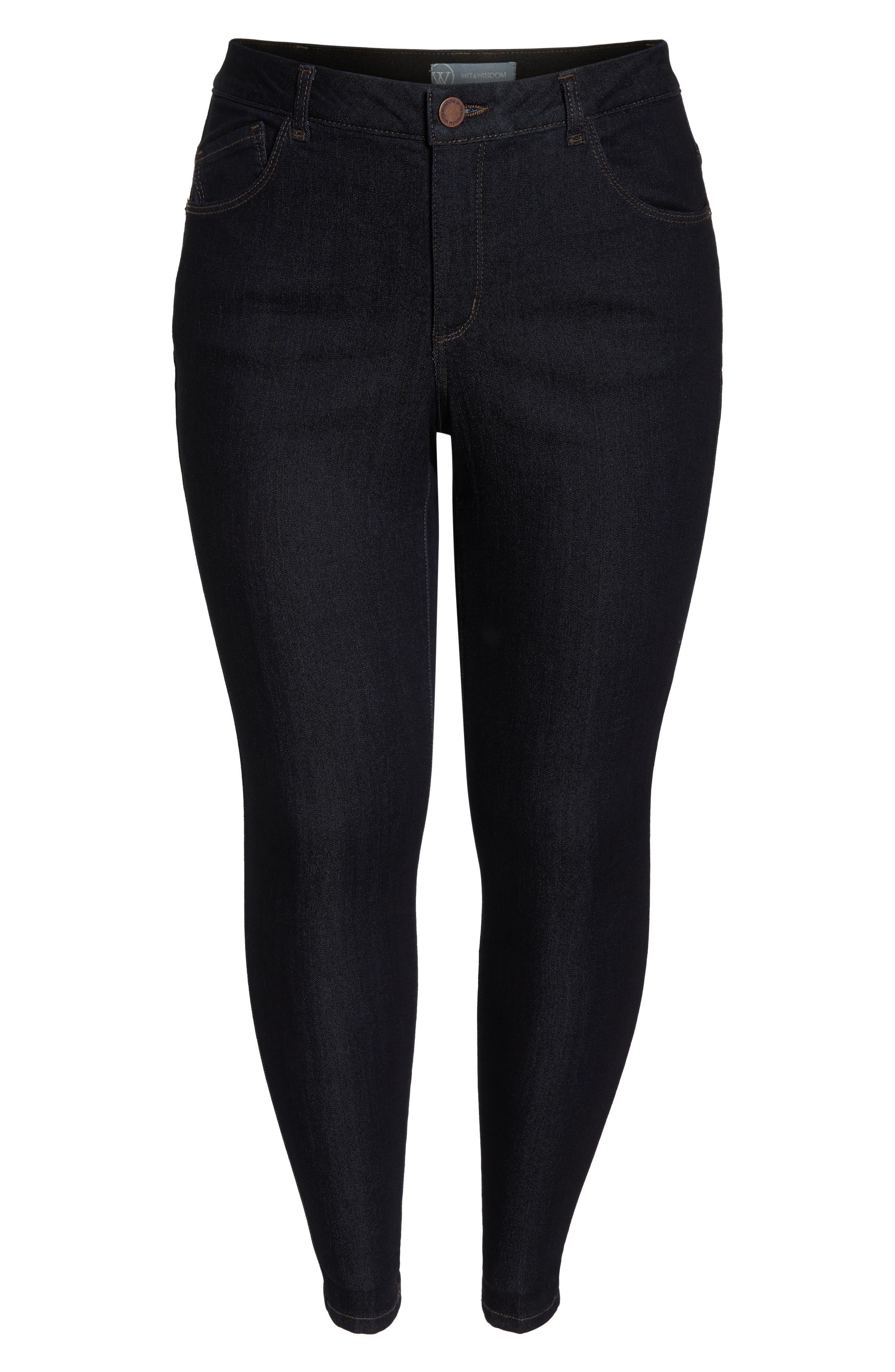 30/11 Ab-solution High Waist Skinny Jeans,                             Alternate thumbnail 6, color,                             INDIGO