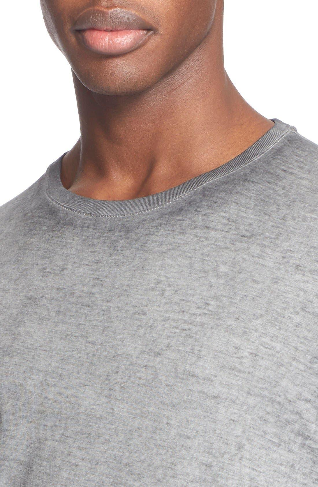 'Trafford' Cotton Crewneck T-Shirt,                             Alternate thumbnail 5, color,                             001