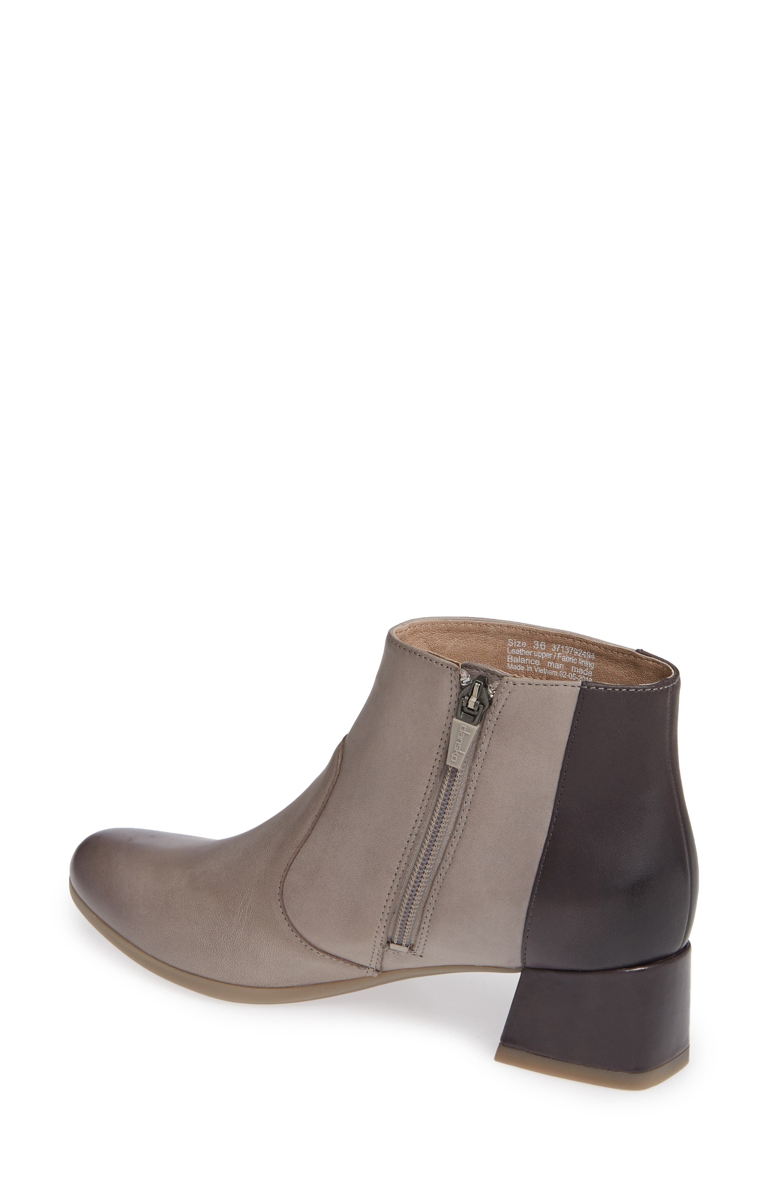 Petra Bootie,                             Alternate thumbnail 2, color,                             STONE BURNISHED NUBUCK LEATHER