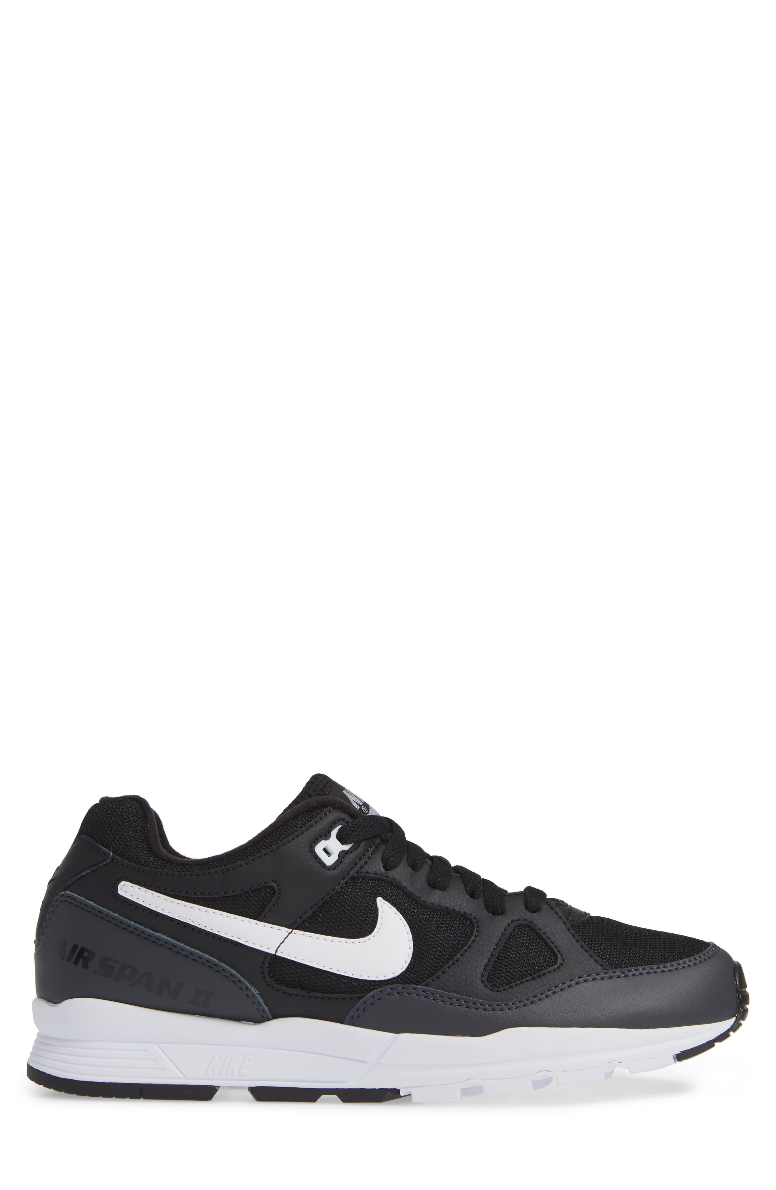 Air Span II Sneaker,                             Alternate thumbnail 3, color,                             BLACK/ WHITE/ ANTHRACITE