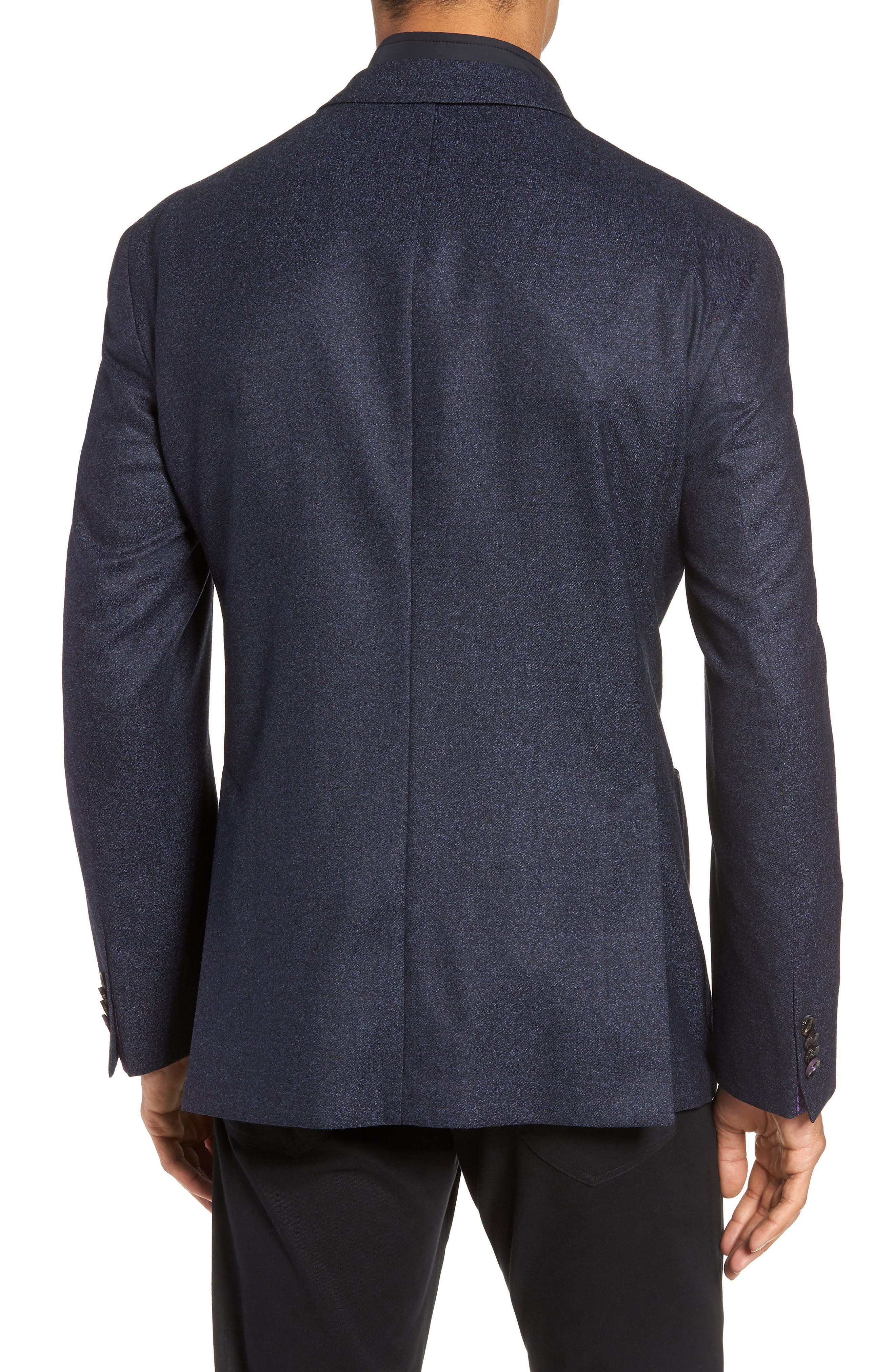 Tucker Trim Fit Wool Blazer,                             Alternate thumbnail 2, color,                             BLUE