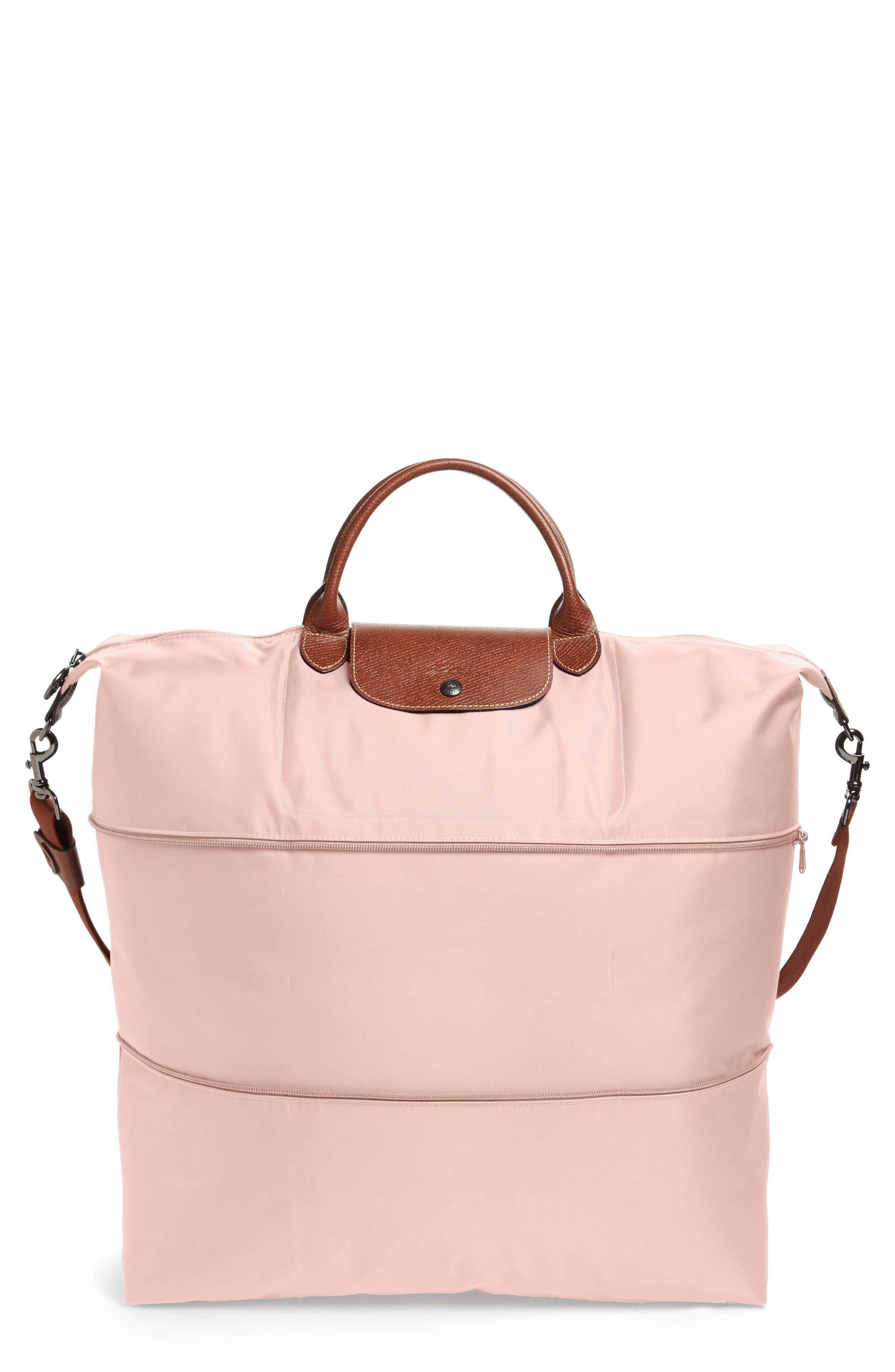 LONGCHAMP Le Pliage 21-Inch Expandable Travel Bag, Main, color, PINK ICE