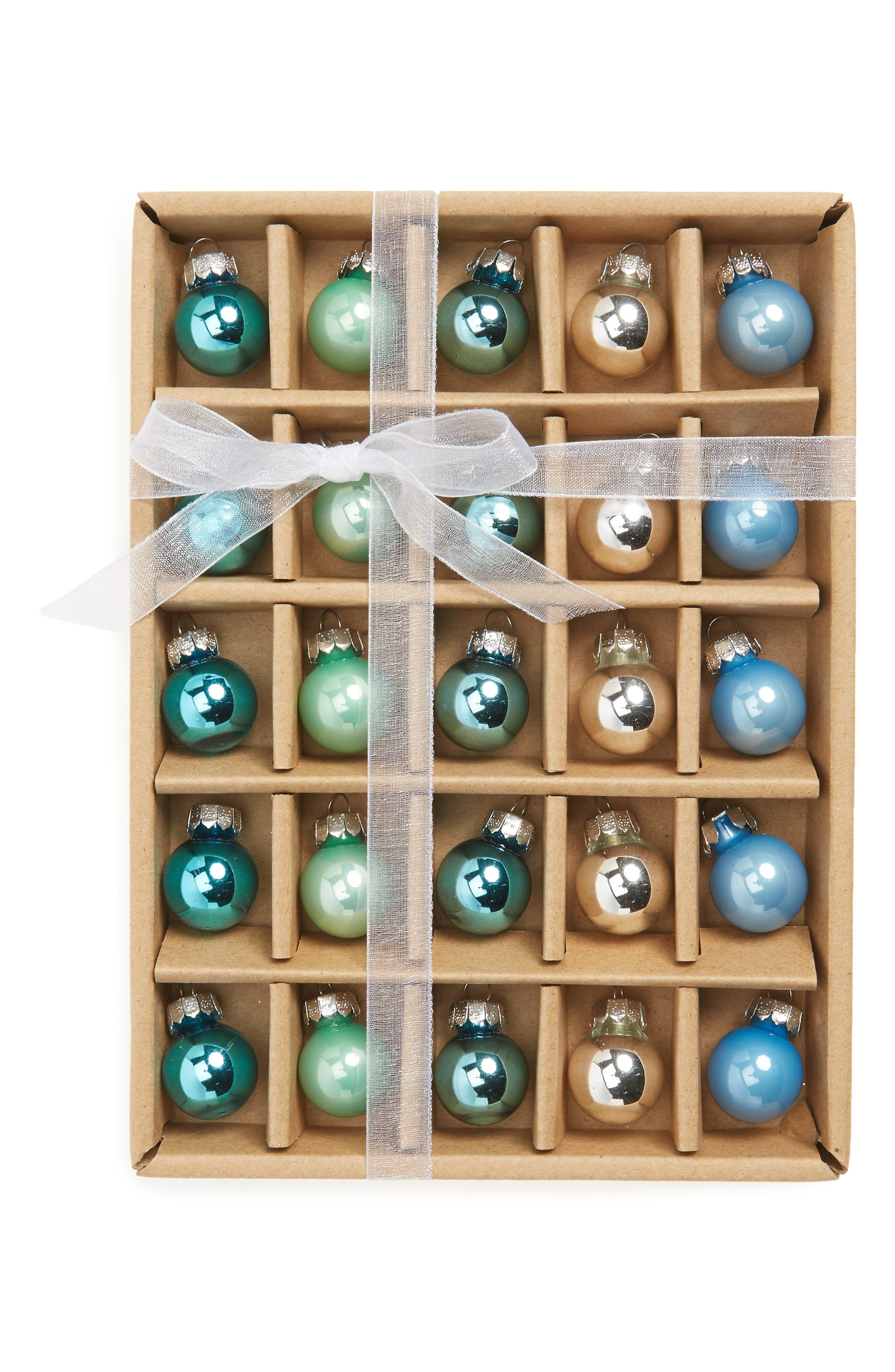 Kat & Annie Set of 25 Mini Ball Ornaments,                             Main thumbnail 1, color,                             400